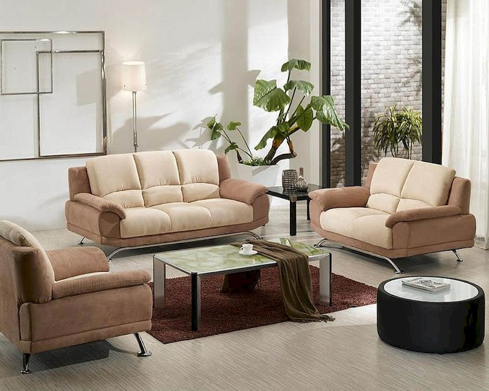 Most Up To Date Two Tone Fabric Sofa Set 44l2823 In Two Tone Sofas (View 6 of 20)