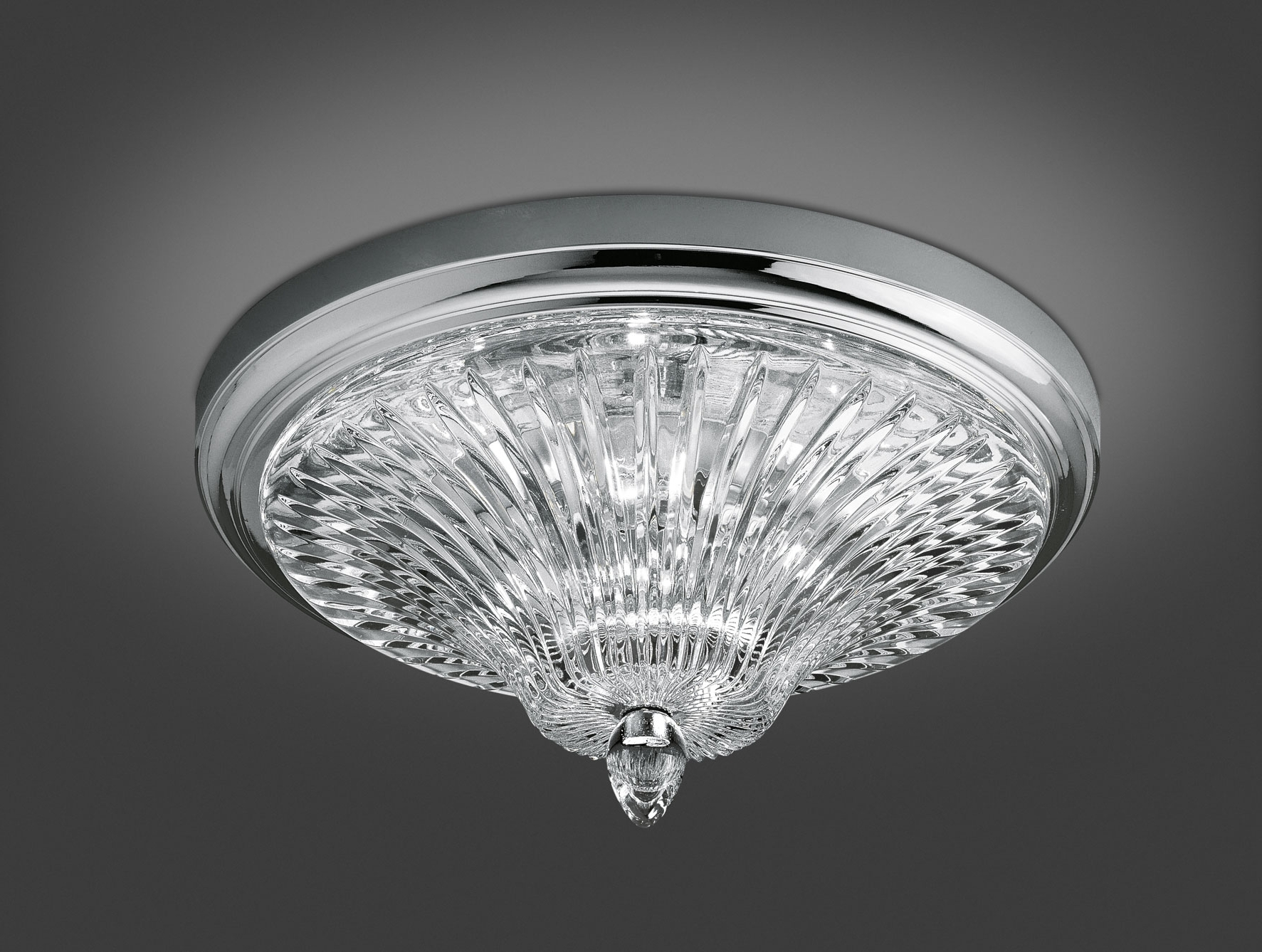Most Up To Date Ultra Modern Chandeliers Regarding Nella Vetrina Italamp 206/pl Modern Ceiling Light In Clear Crystal (View 4 of 20)