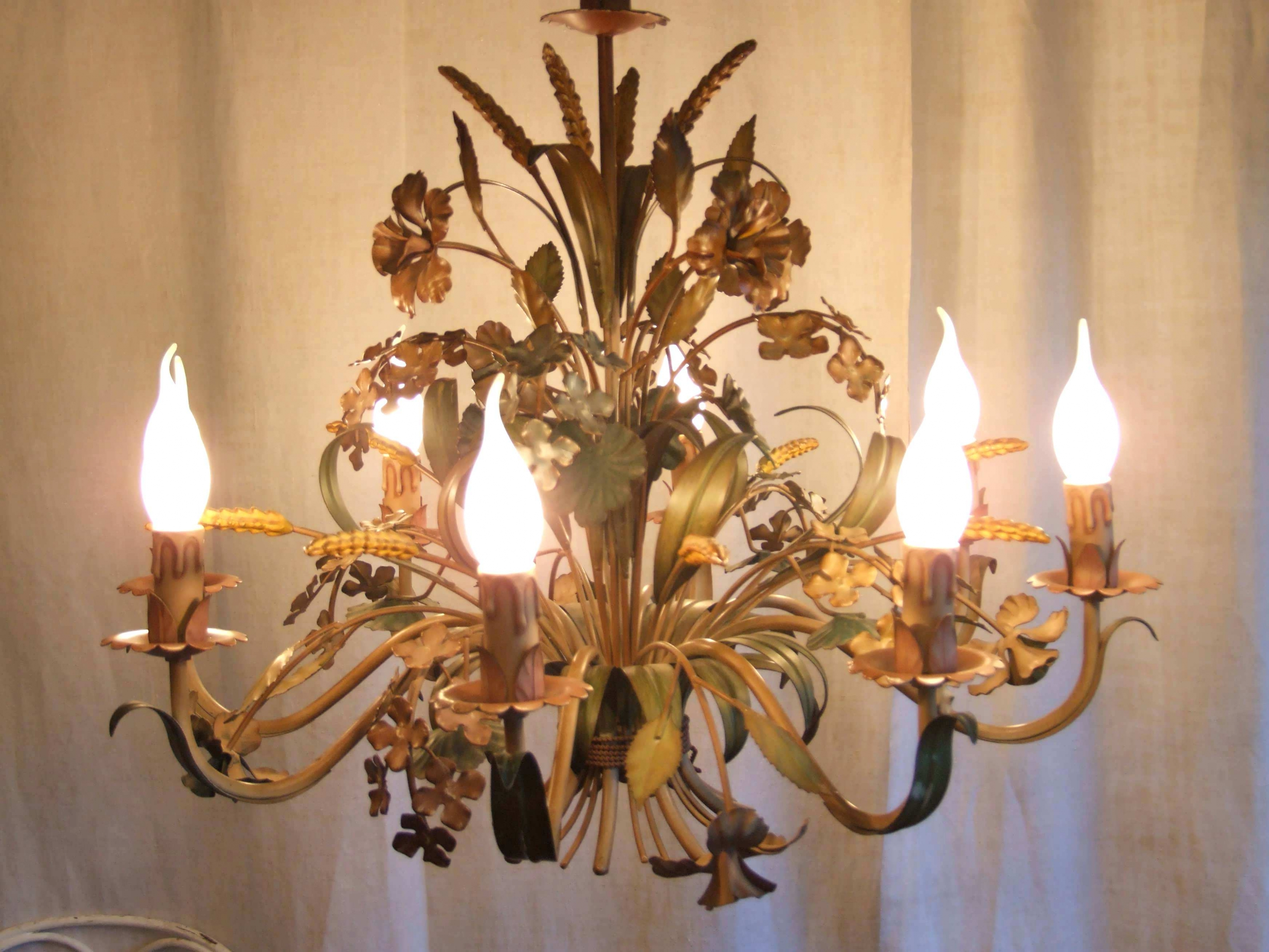 Most Up To Date Vintage Italian Chandeliers In Chandeliers : Vintage Floral Chandeliers Metal Flower Chandelier (View 11 of 20)