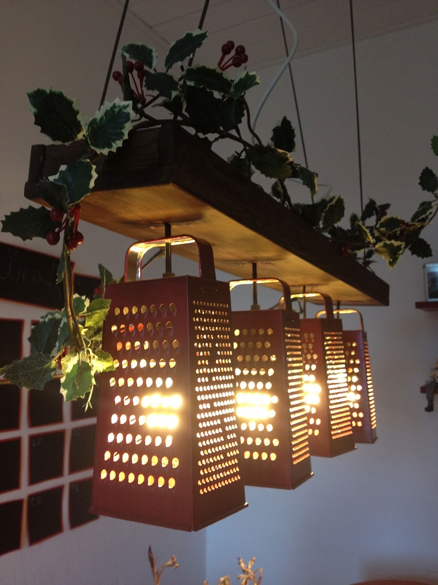 Most Up To Date Weird Chandeliers Within 21 Diy Lamps & Chandeliers You Can Create From Everyday Objects (View 10 of 20)
