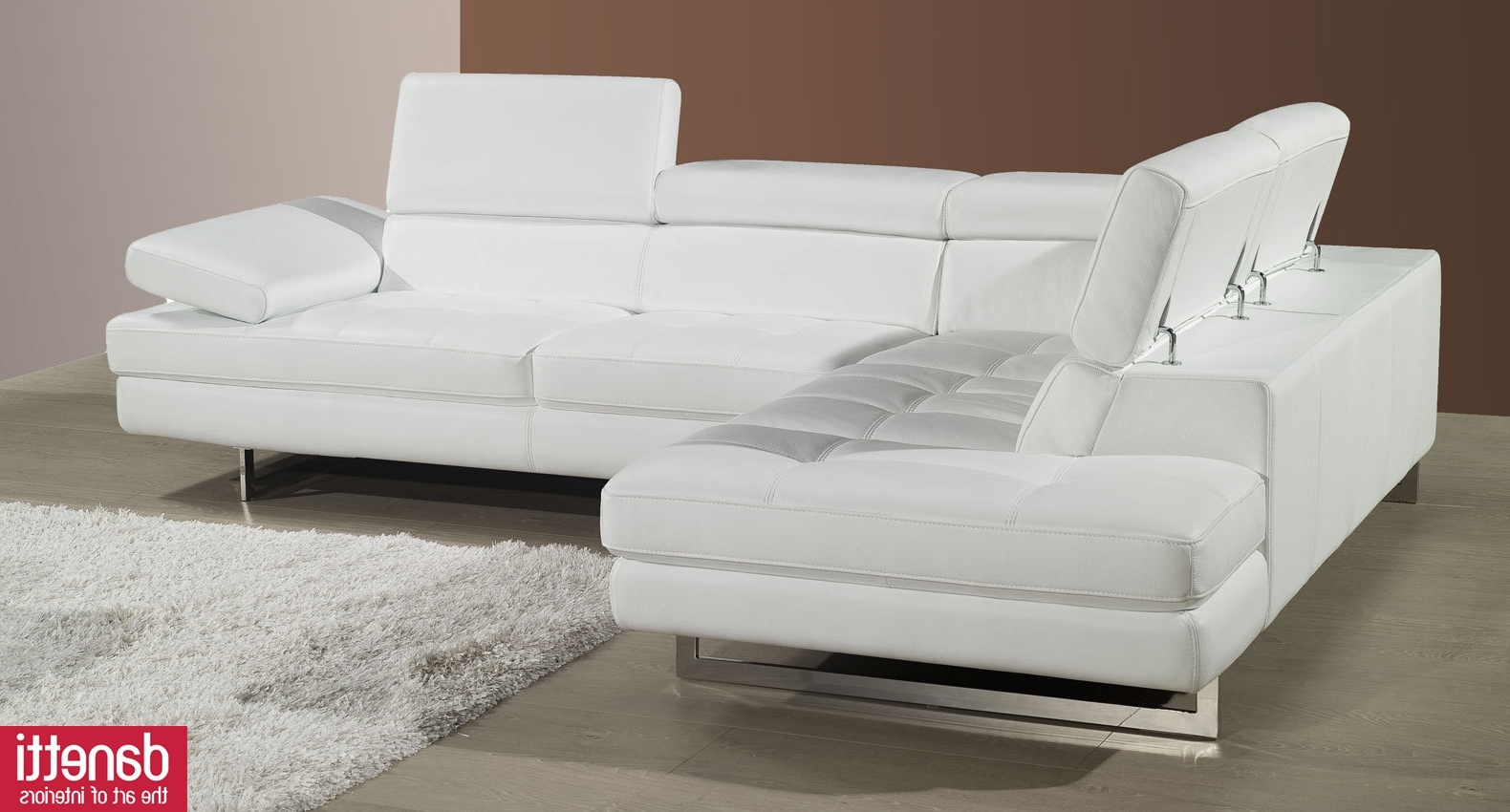 Most Up To Date White Leather Sofas Regarding Modern White Leather Sofa Set Tags : Modern White Leather Sofa (View 6 of 20)