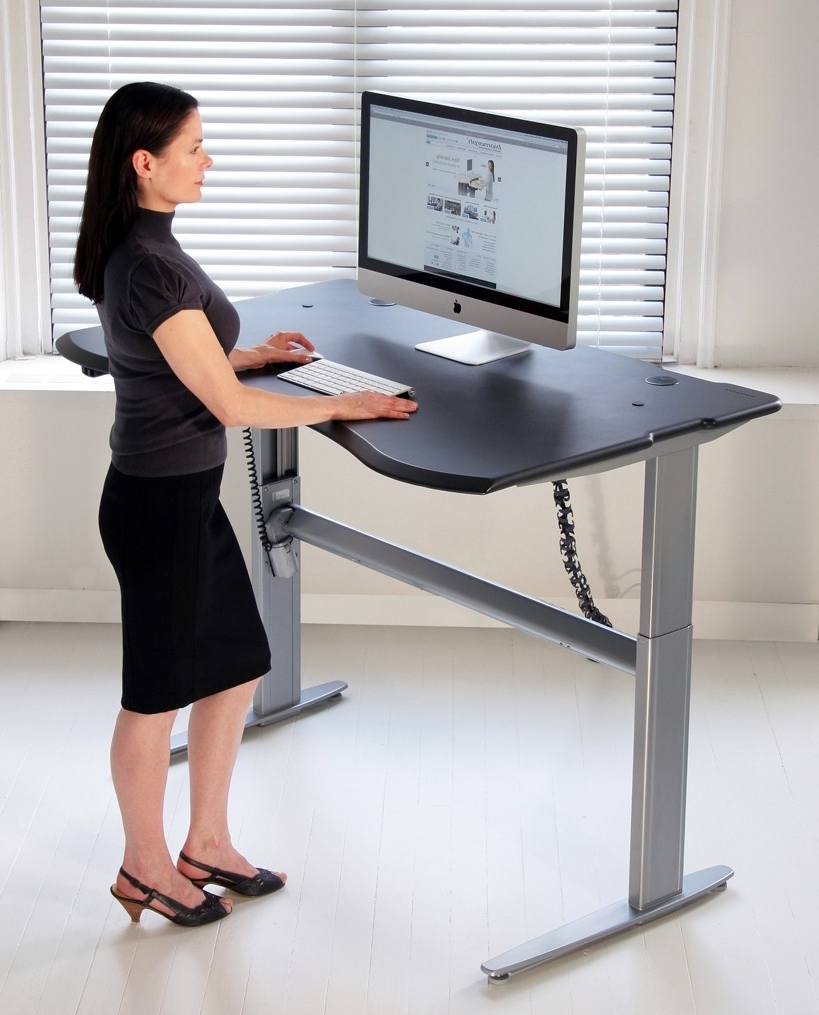 Motorized Or Crank Adjustable Level2 Standing Desk With Single Within Popular Standing Computer Desks (View 12 of 20)