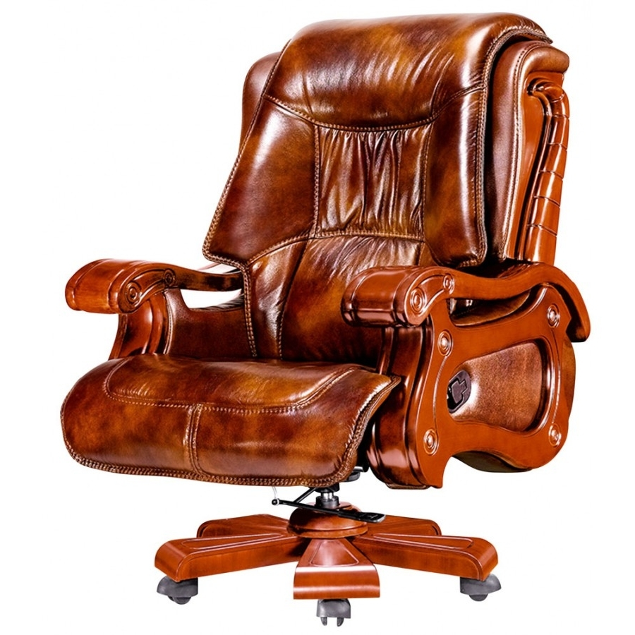 Mrsapo Intended For Brown Leather Executive Office Chairs (View 11 of 20)