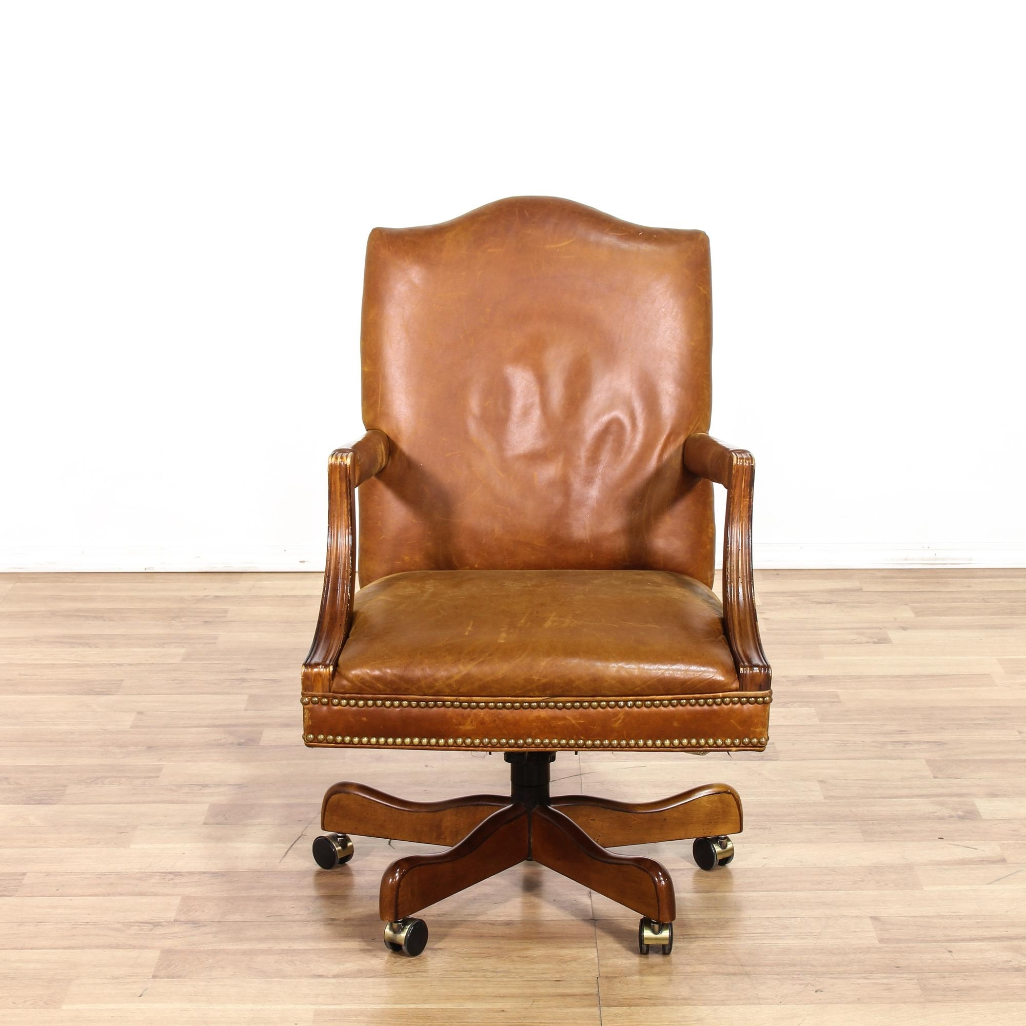 Nailhead Executive Office Chairs Inside Preferred This Office Chair Is Featured In A Buttery Soft, Brown Leather (View 11 of 20)