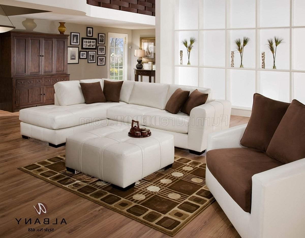 Naples Fl Sectional Sofas Throughout Widely Used Naples White Leatherette Modern Sectional Sofa W/optional Items (View 11 of 20)