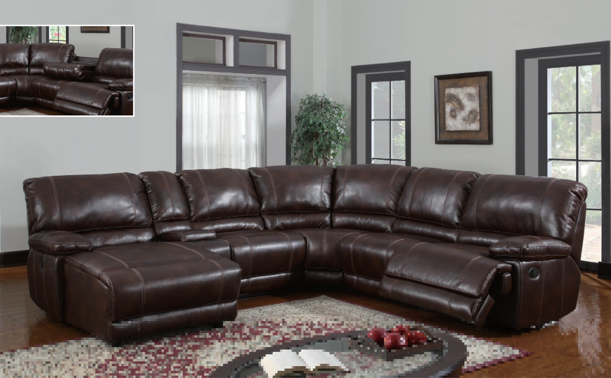 Nashville Sectional Sofas With Trendy Curved Sectional Sofa With Recliner – Home Design Ideas And Pictures (View 17 of 20)