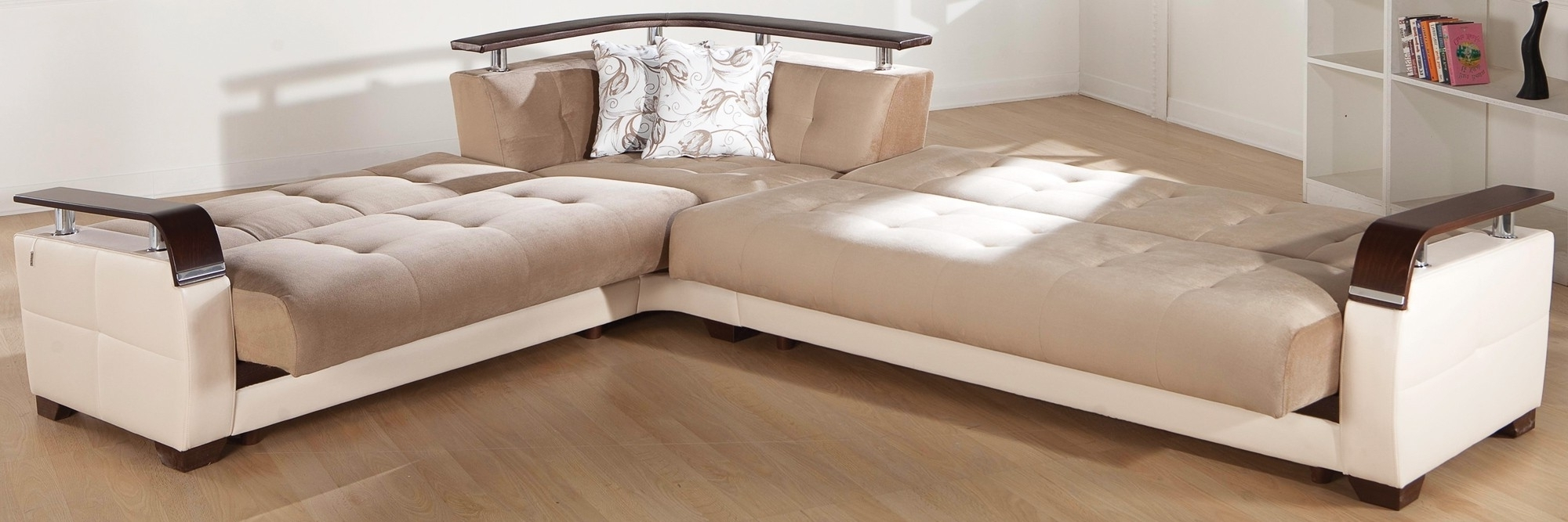 Natural Sectional Sofa Sleeper Contemporary Sectional Sleeper Sofa Inside Widely Used Sectional Sofas With Sleeper (View 4 of 20)
