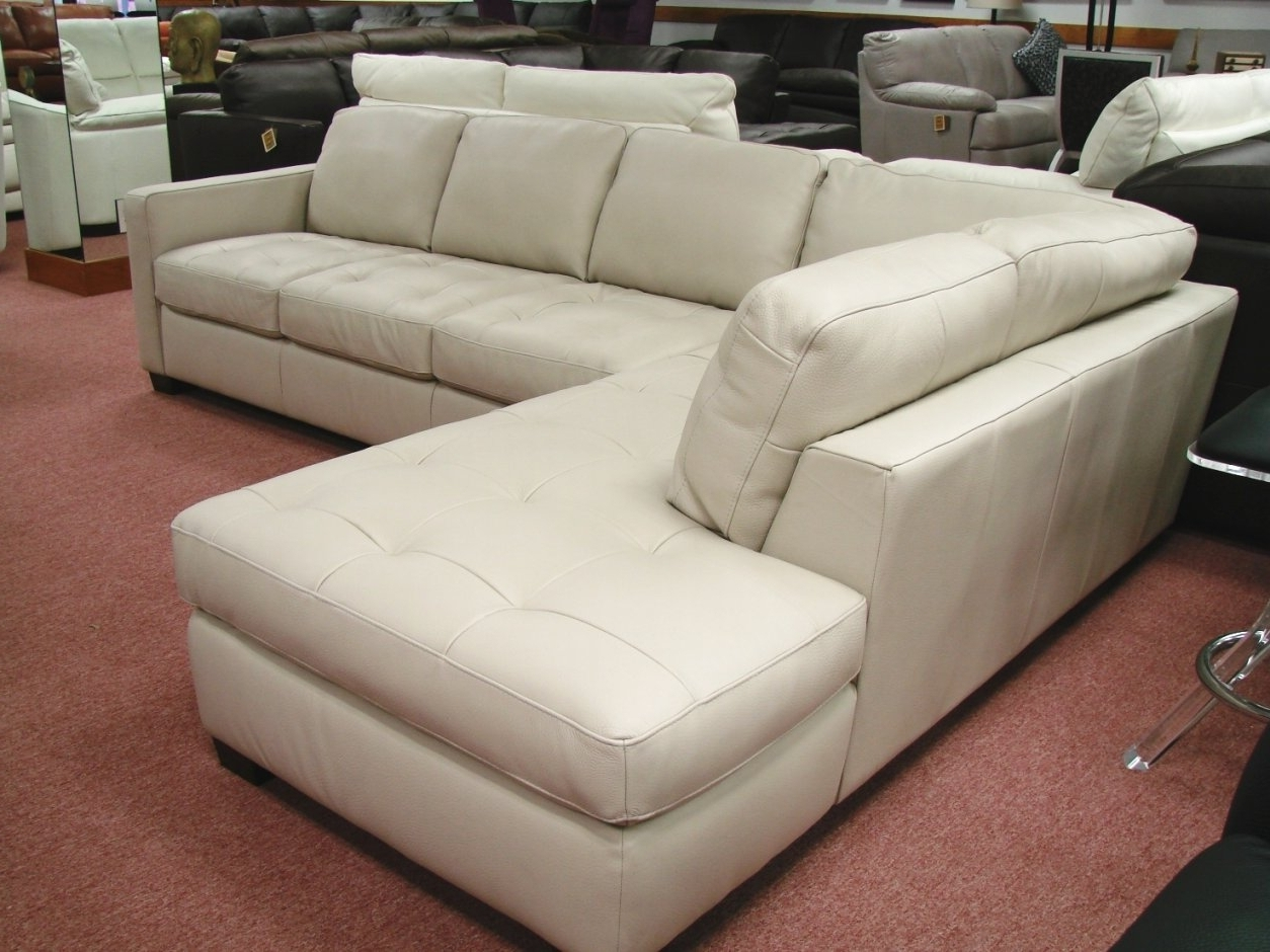 Natuzzi Sectional Sofas With Regard To 2019 Natuzzi White Leather Sectional Sofa (View 14 of 20)