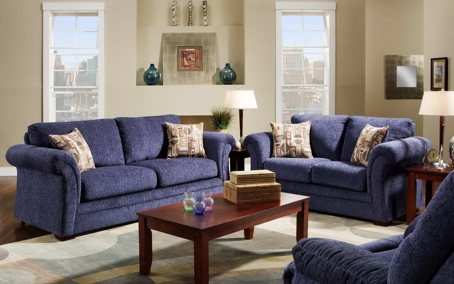 Navy Blue Sofa (View 8 of 20)