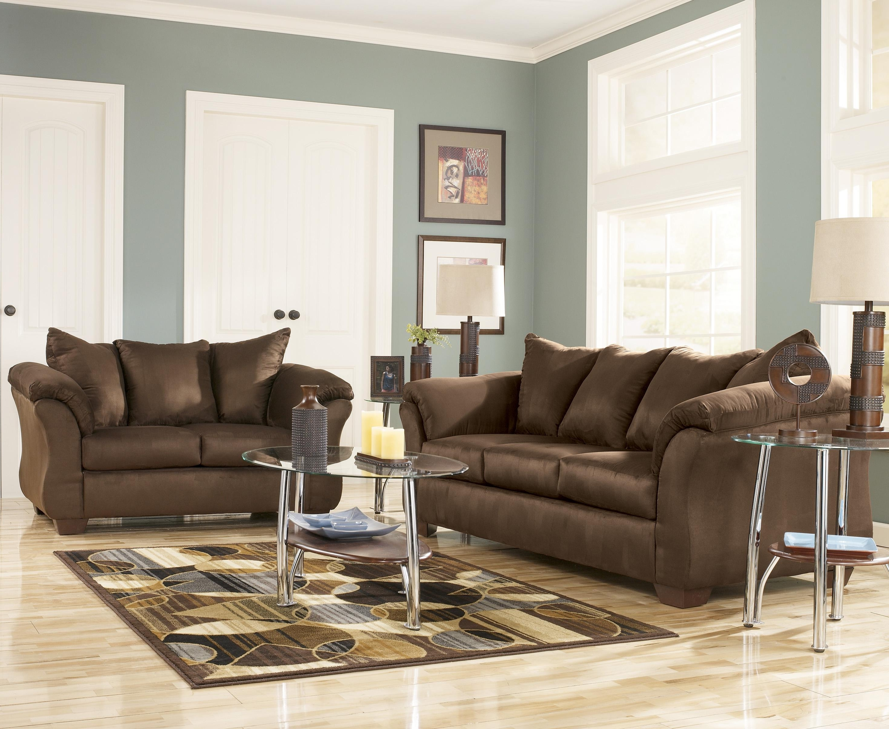 Newest 102x102 Sectional Sofas Within Signature Designashley Darcy – Cafe Contemporary Sectional (View 15 of 20)