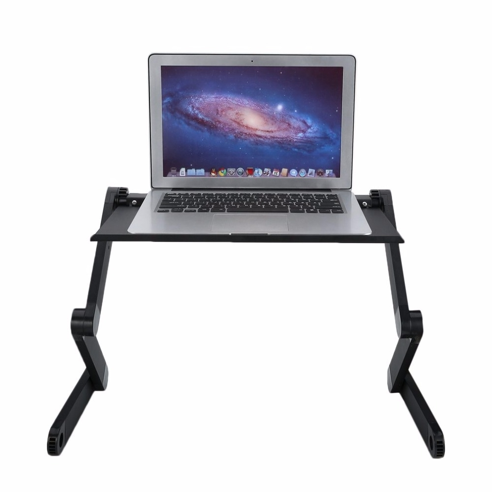 Newest 360 Degree Aluminum Alloy Computer Desk Portable Adjustable Laptop Regarding Portable Computer Desks (View 12 of 20)