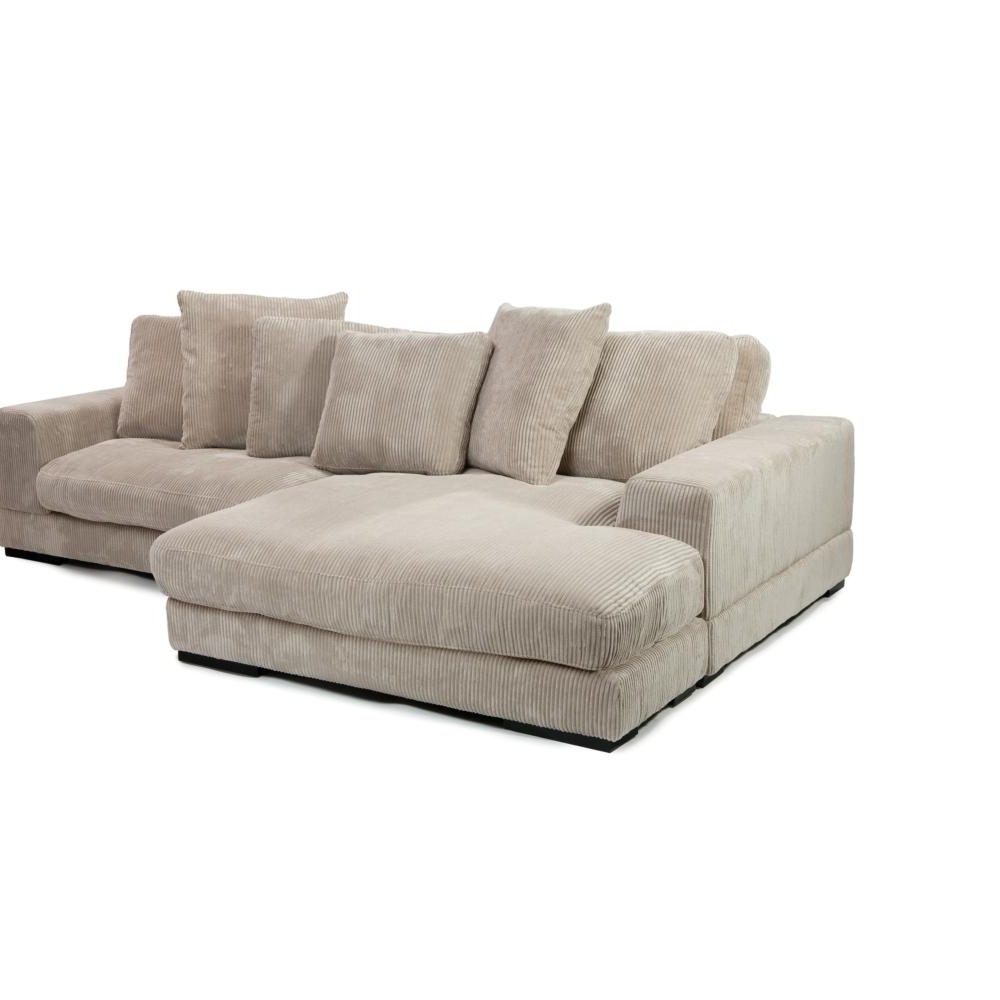 Newest Austin Sectional Sofas Throughout Plunge Sectional In Cappuccino Corduroy Fabric – Simply Austin (View 17 of 20)