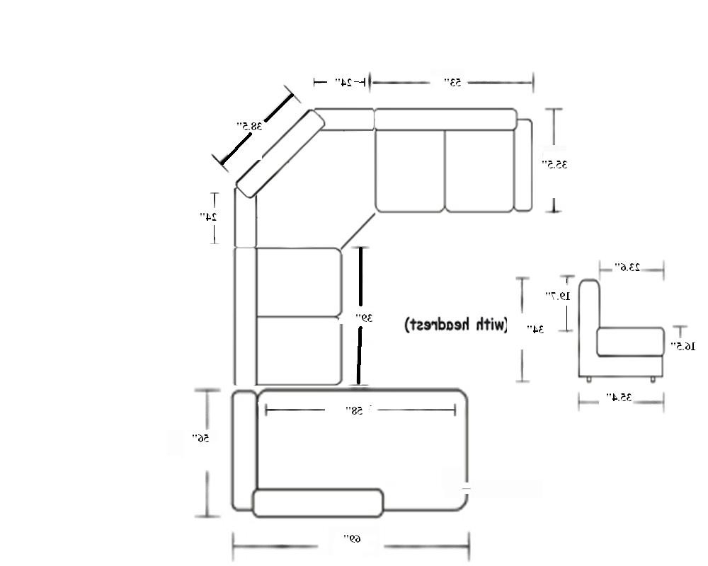 Newest Average Size Of Sectional Sofas • Sectional Sofa For Sectional Sofas By Size (View 10 of 20)