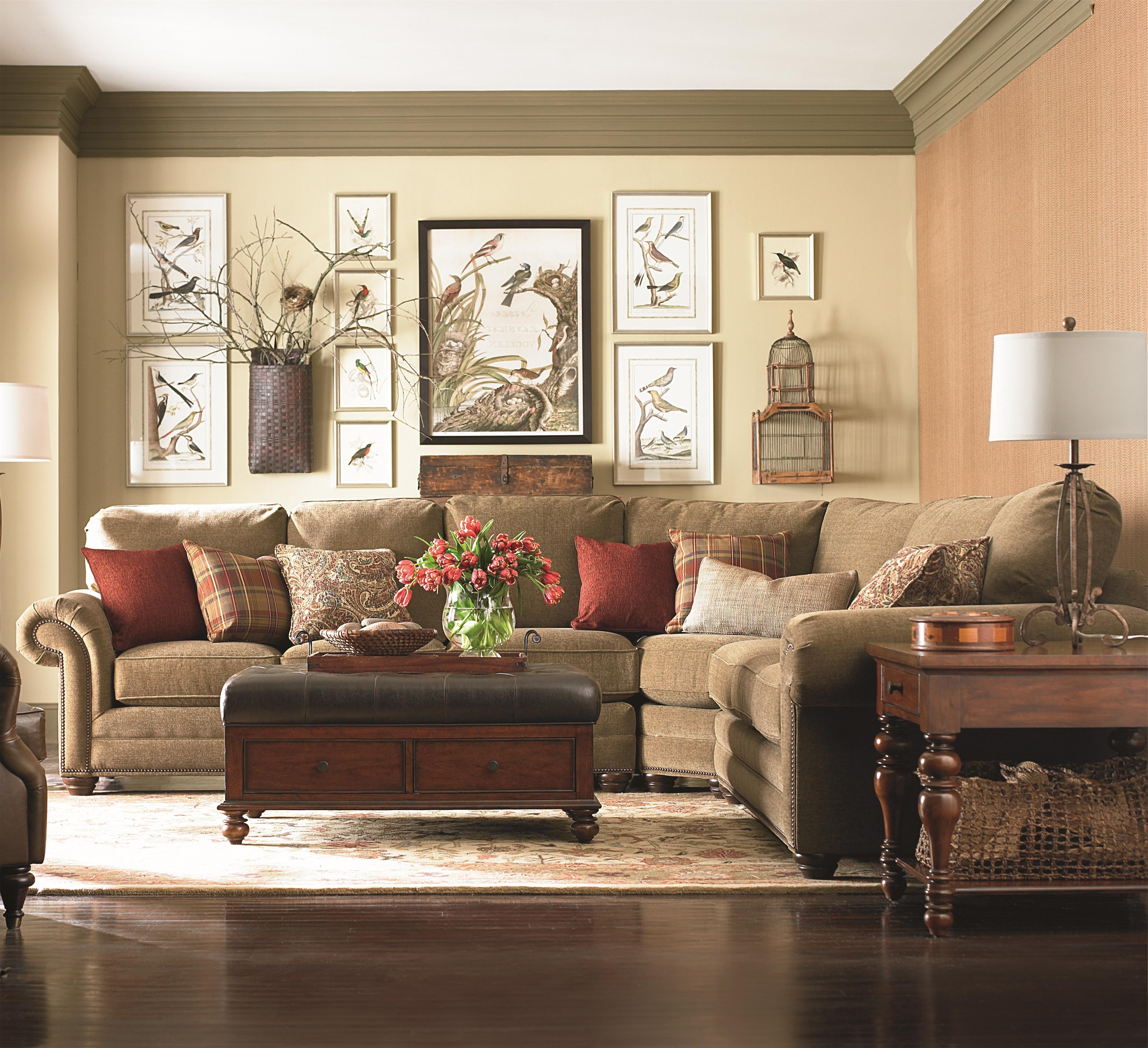 Newest Bassett Custom Upholstery – Manor <B>Customizable</b> 3 Pc Within Huntsville Al Sectional Sofas (View 12 of 20)