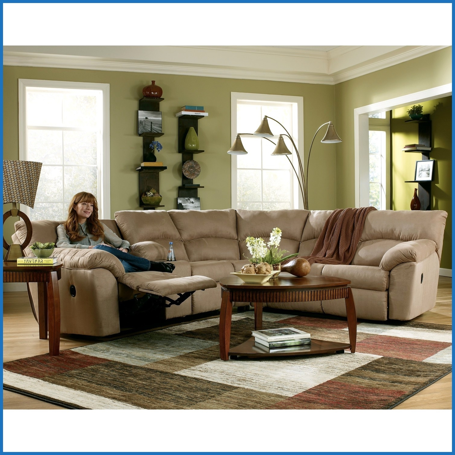 Newest Beautiful Floor Lamps Behind Sectional Sofas Stock Of Floor Decor Inside Sectional Sofas In Stock (View 13 of 20)
