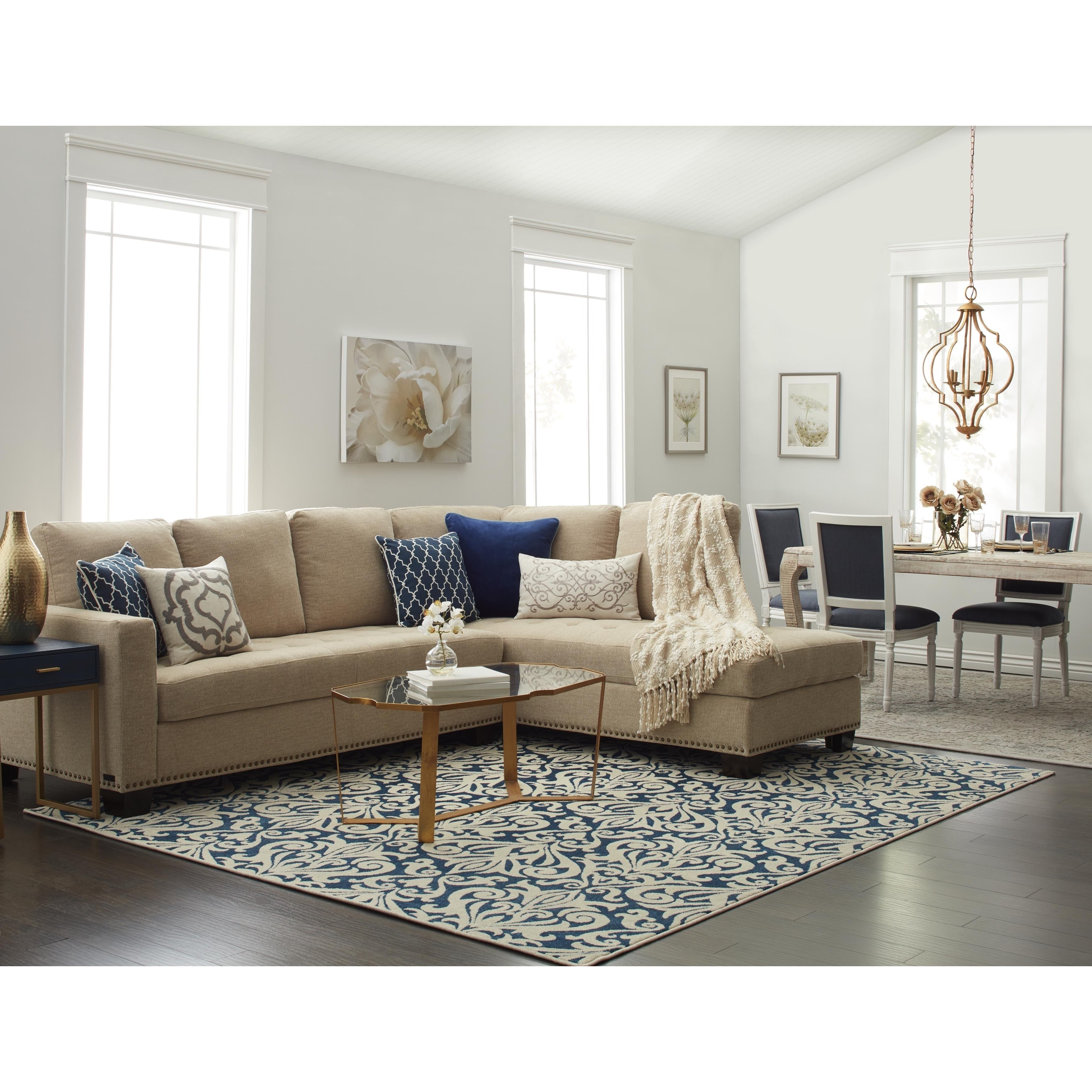 Newest Beige Sectional Sofas Inside Sectionals Home Goods : Free Shipping On Orders Over $45 At (View 17 of 20)