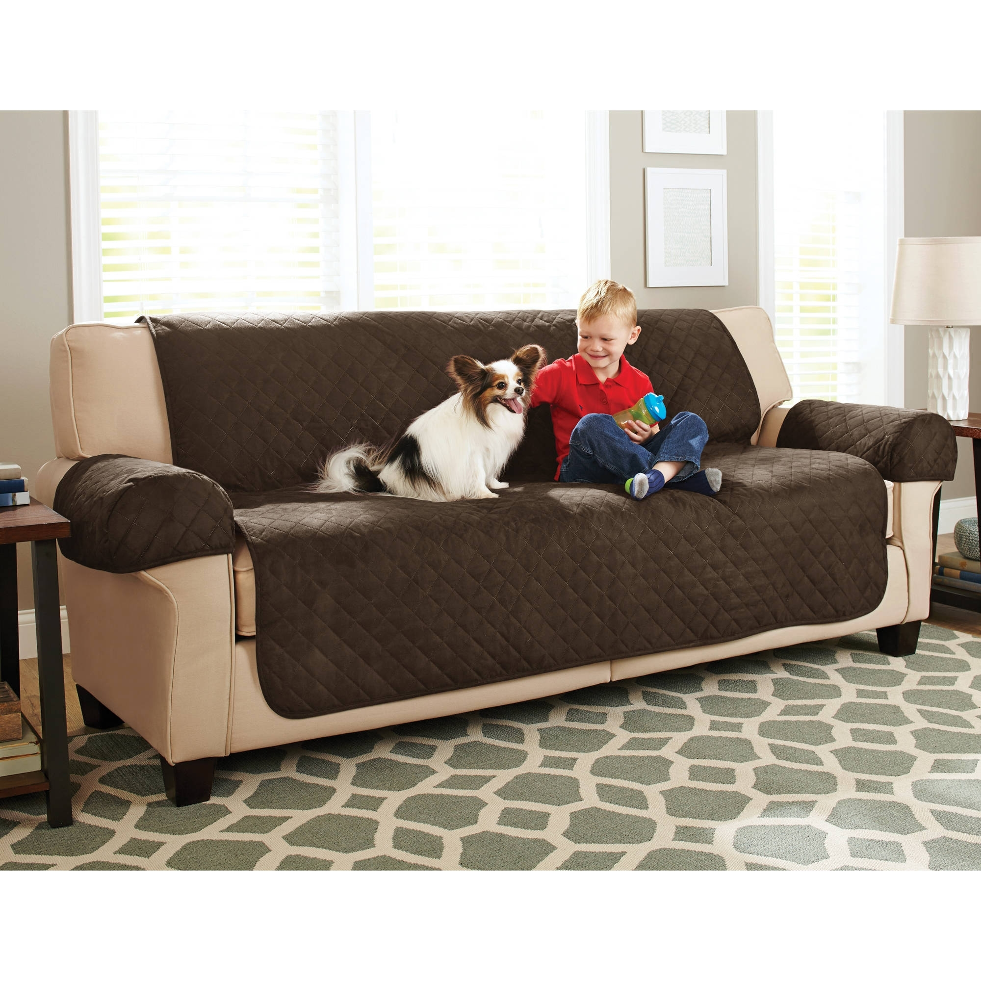 Newest Better Homes And Gardens Waterproof Non Slip Faux Suede Pet In Faux Suede Sofas (View 18 of 20)