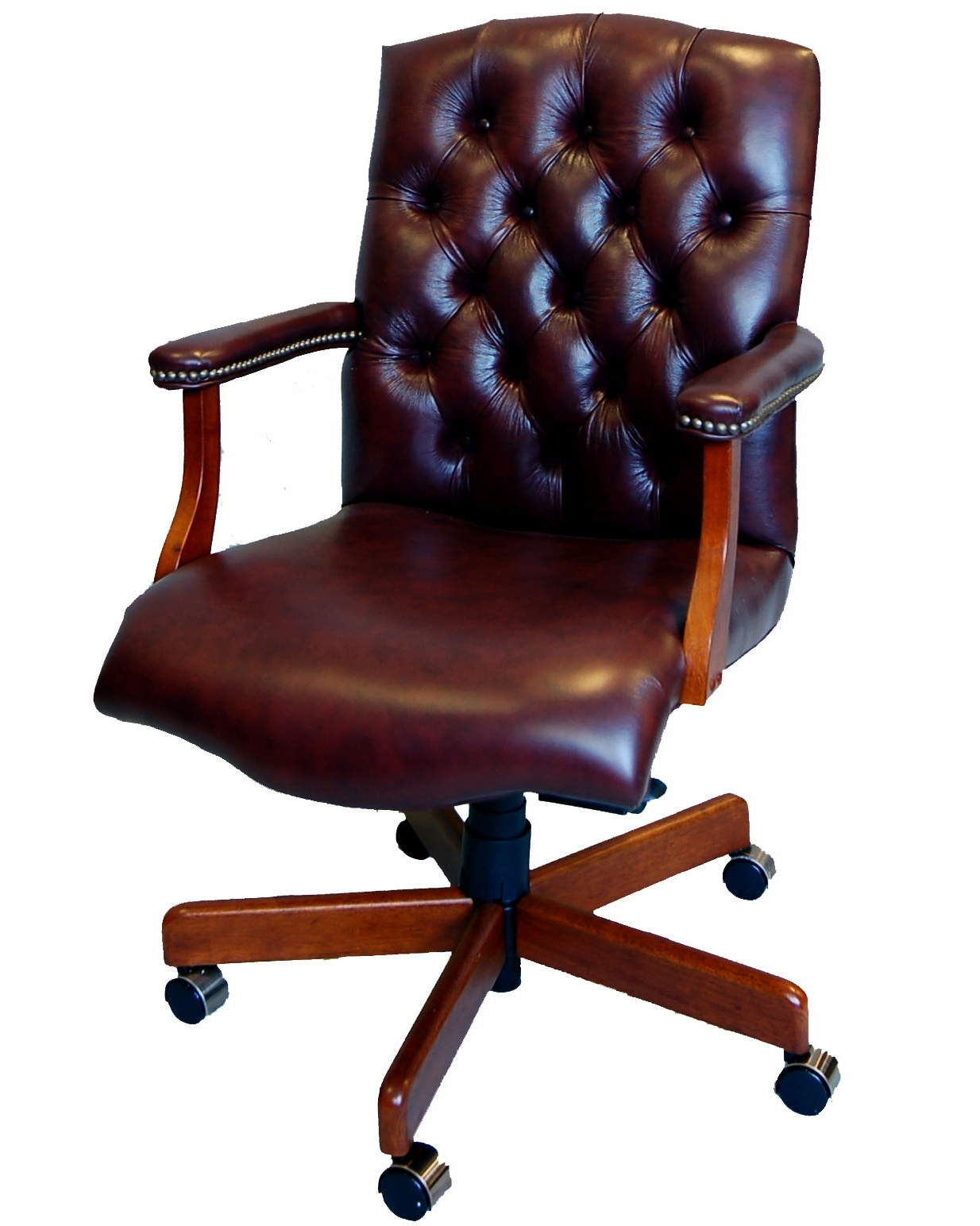 Newest Brown Leather Executive Desk Chair • Desk Chair Inside Brown Leather Executive Office Chairs (View 2 of 20)