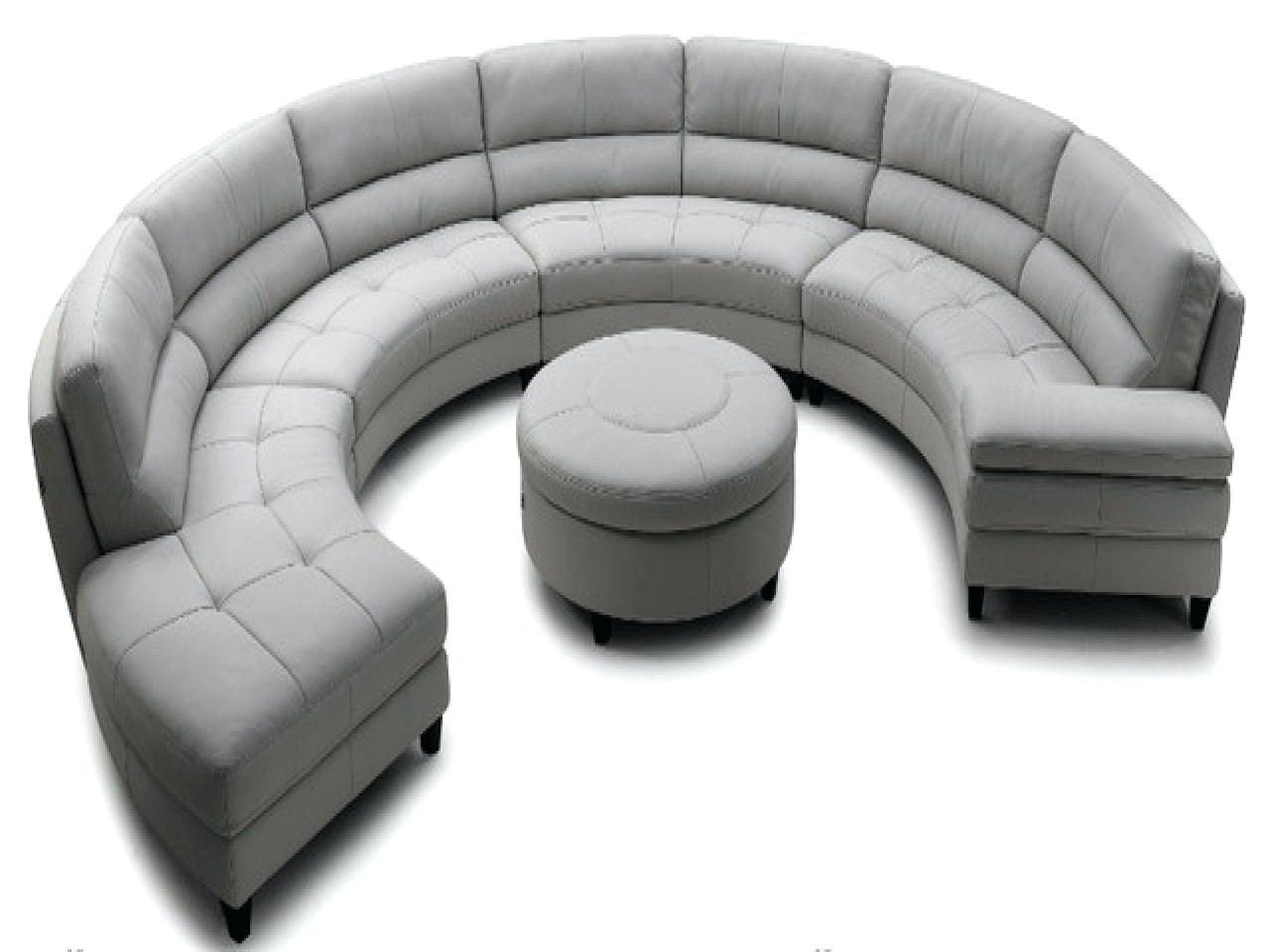 Newest Circular Sectional Sofa Ed Modern Round Sofas Outdoor Curved Pertaining To Round Sofas (View 7 of 20)