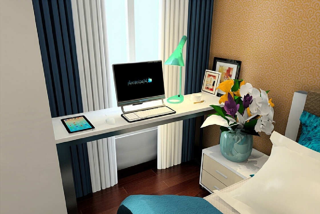 Newest Computer Desks For Bedrooms For Bedroom: Compact Bedroom Computer Desks. Bed Ideas (View 16 of 20)