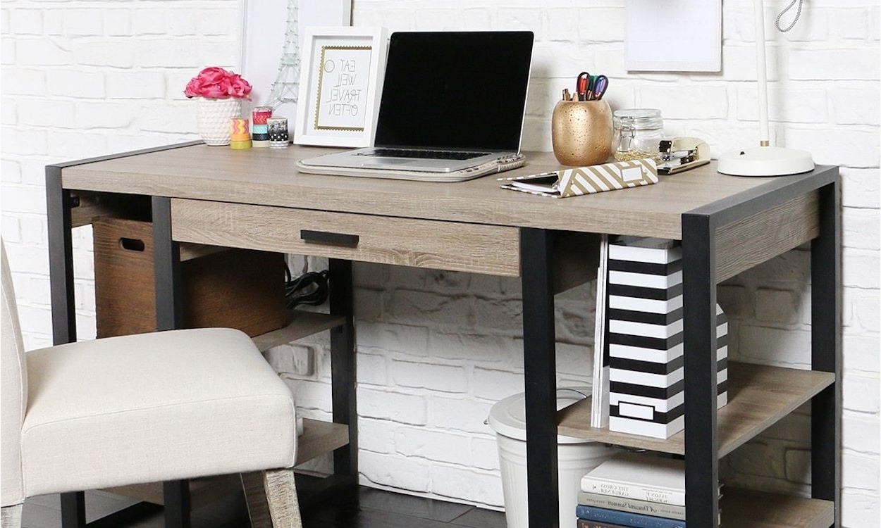 Newest Computer Desks For Small Spaces Within 5 Best Pieces Of Office Furniture For Small Spaces – Overstock (Gallery 1 of 20)