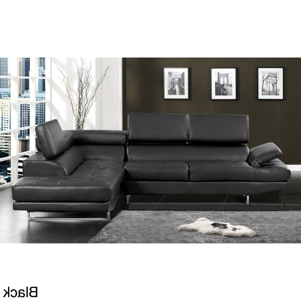 Newest Contemporary 2 Piece Sectional With Adjustable Headrest In Overstock Sectional Sofas (View 7 of 20)