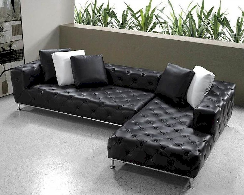 Newest Contemporary Sectional Sofas For Black Contemporary Sectional Leather : Art Decor Homes – Repair A (View 19 of 20)