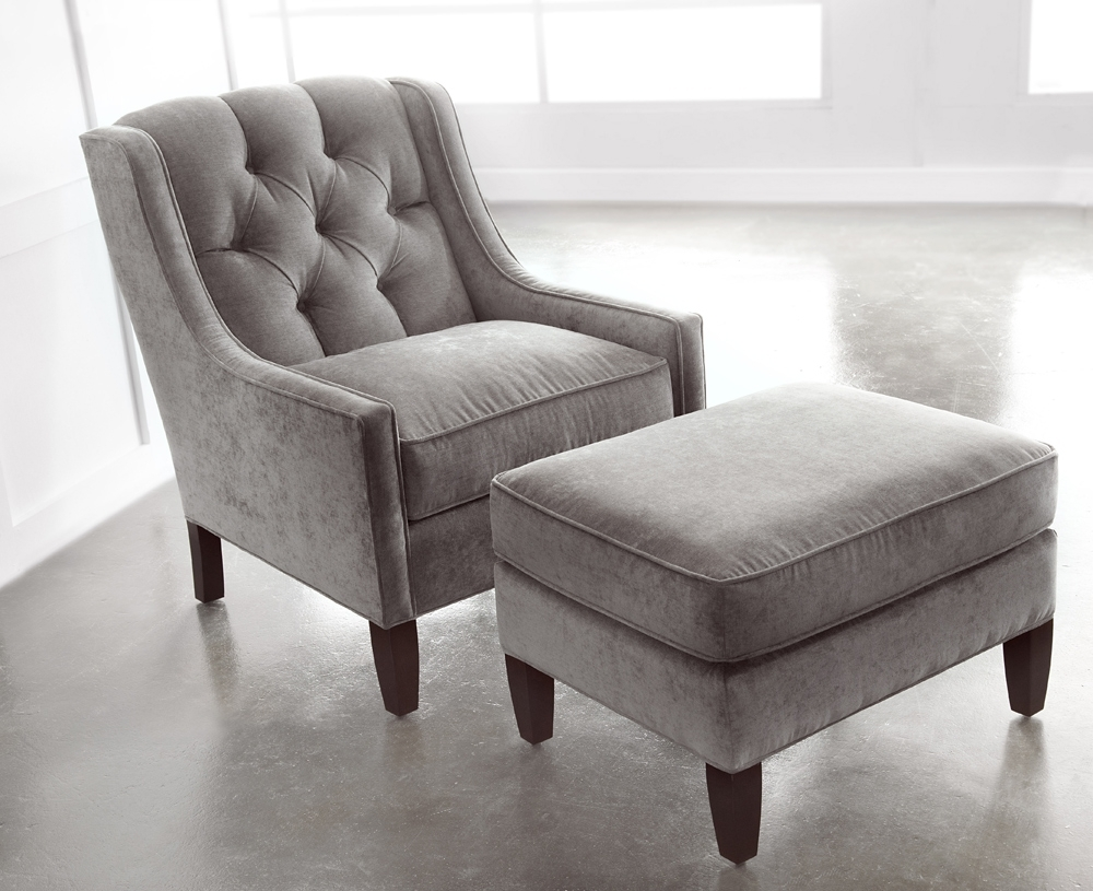 Newest Elegant Small Chair With Ottoman About Remodel Home Designing Throughout Chairs With Ottoman (View 13 of 20)