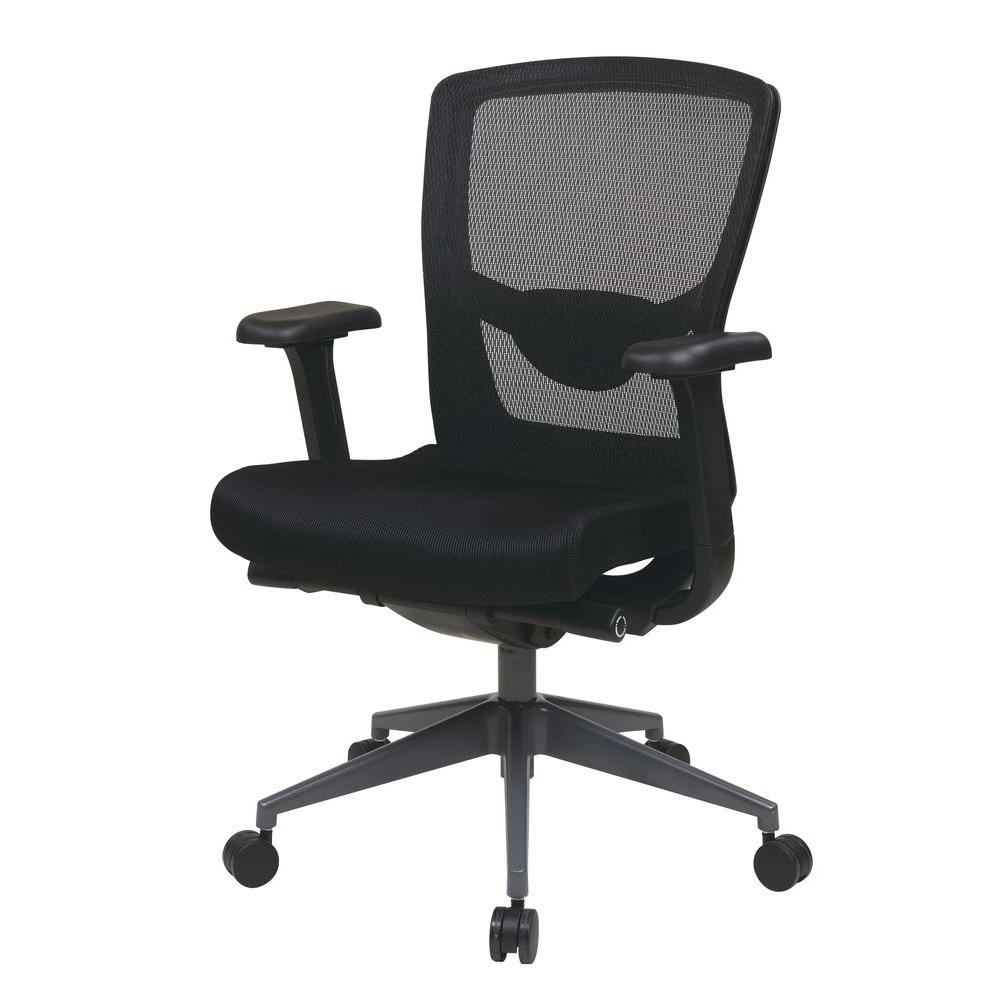 Newest Executive Office Chairs With Adjustable Arms Regarding Pro Line Ii Black Progrid Executive Office Chair 511343At – The (View 15 of 20)