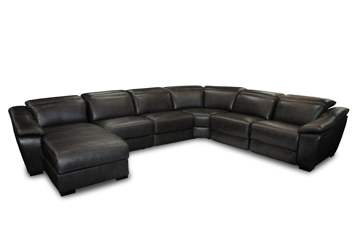 Newest Faux Leather Sectional Sofas In Casa Jasper Modern Black Leather Sectional Sofa (View 19 of 20)