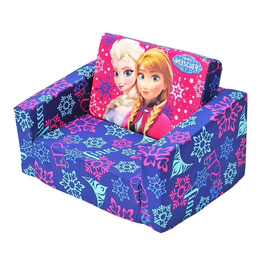 Newest Flip Out Sofas With Regard To Disney Frozen Flip Out Sofa (View 10 of 20)