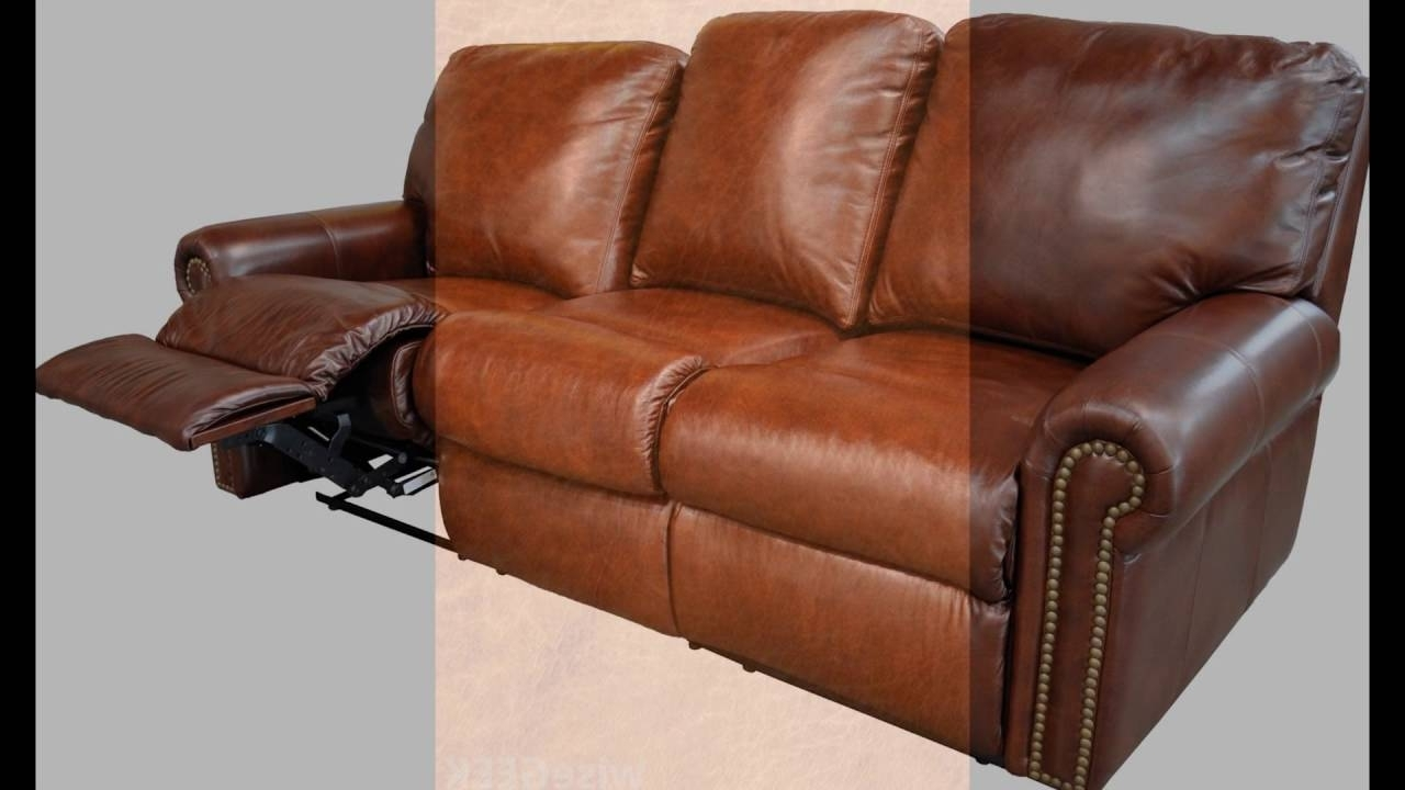 Newest Full Grain Leather Sofas Pertaining To Full Grain Leather Recliner – Youtube (View 12 of 20)