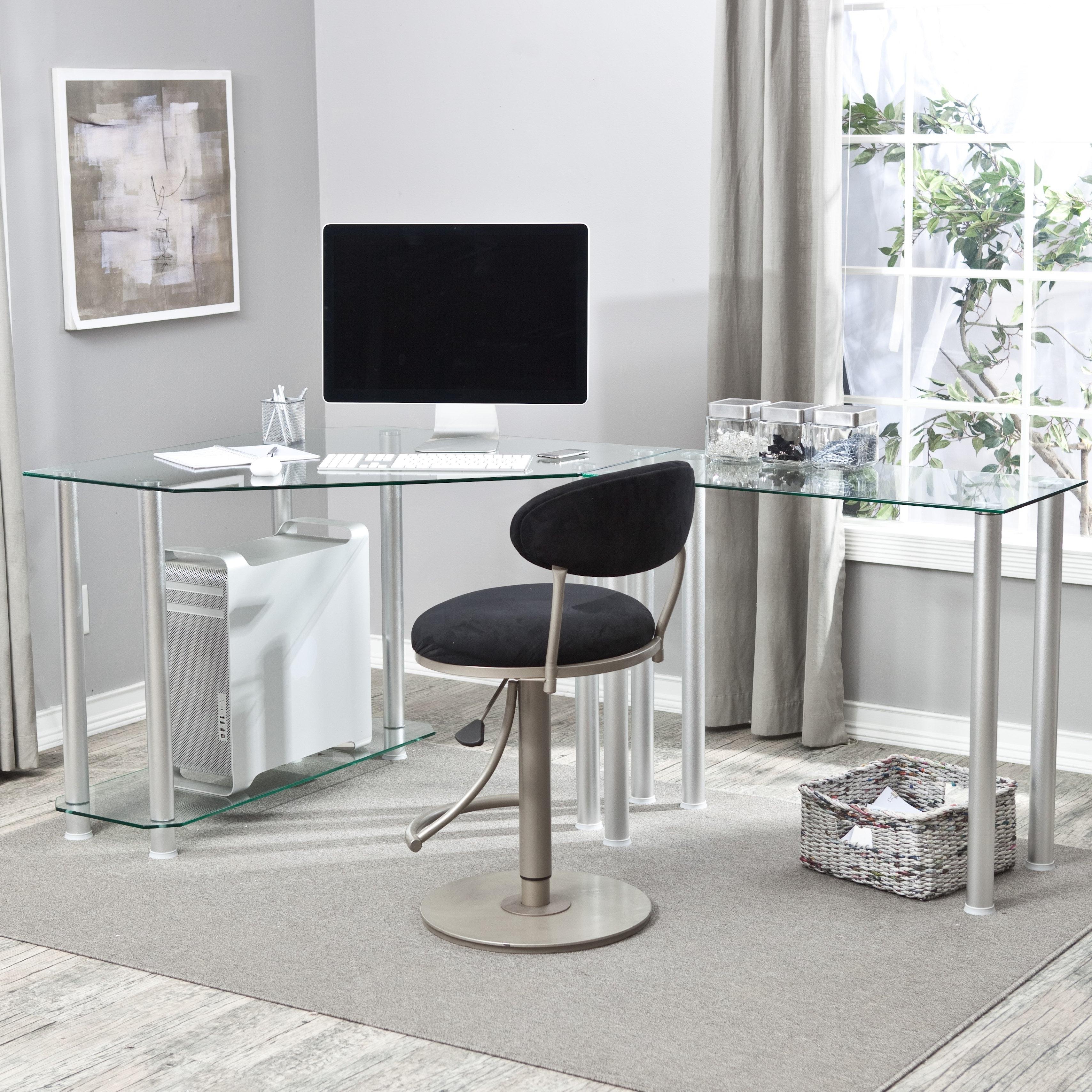 Newest Glass Corner Computer Desks In Modern Glass L Shaped Computer Desk Designs — Desk Design (View 17 of 20)