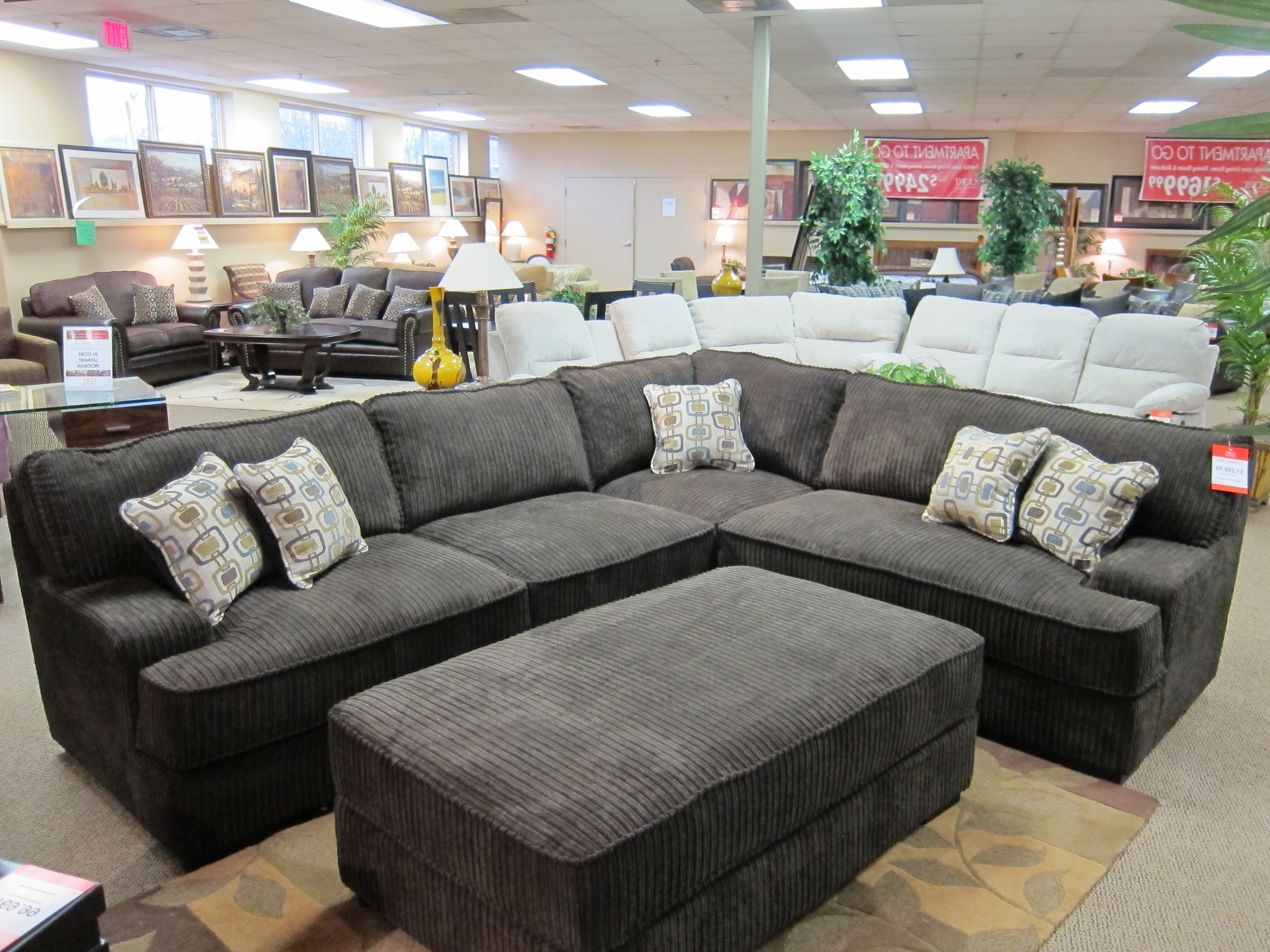 Newest Gray Corduroy Sectional Sofa (View 10 of 20)