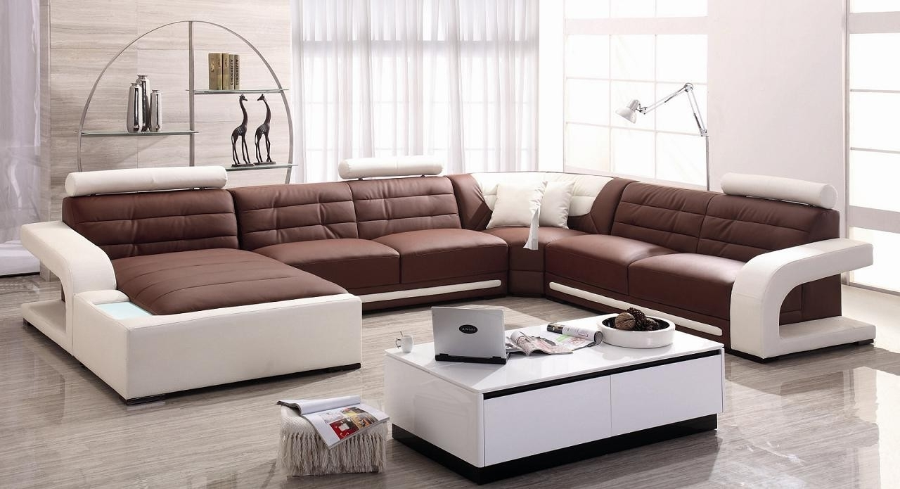 Newest Great Modern Leather Sectional Sofa 17 For Modern Sofa Ideas With With Regard To Contemporary Sectional Sofas (View 16 of 20)