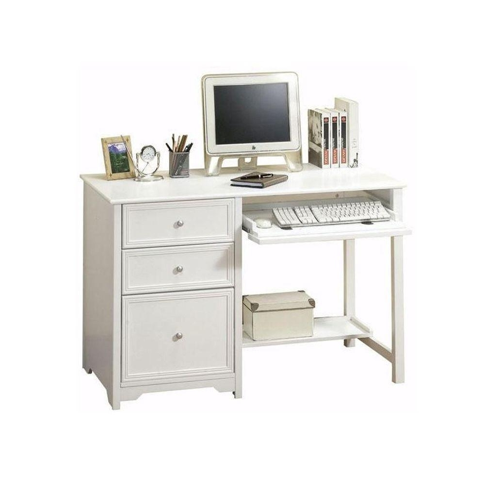 Newest Home Decorators Collection Oxford White Desk 6769410410 – The Home With Regard To Computer Desks At Home Depot (View 14 of 20)