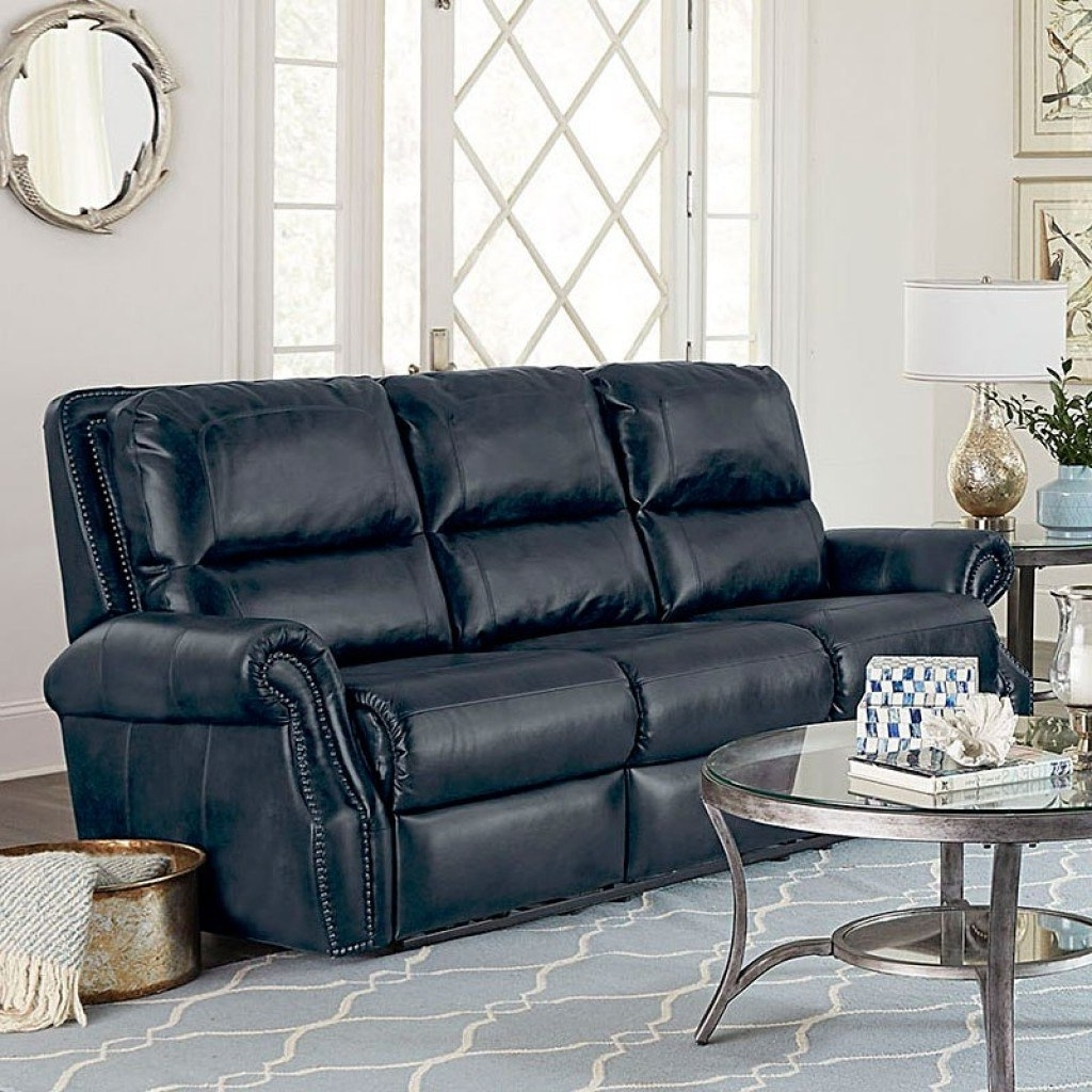 Newest Kingston Reclining Living Room Set (Navy) Standard Furniture Intended For Kingston Sectional Sofas (View 11 of 20)