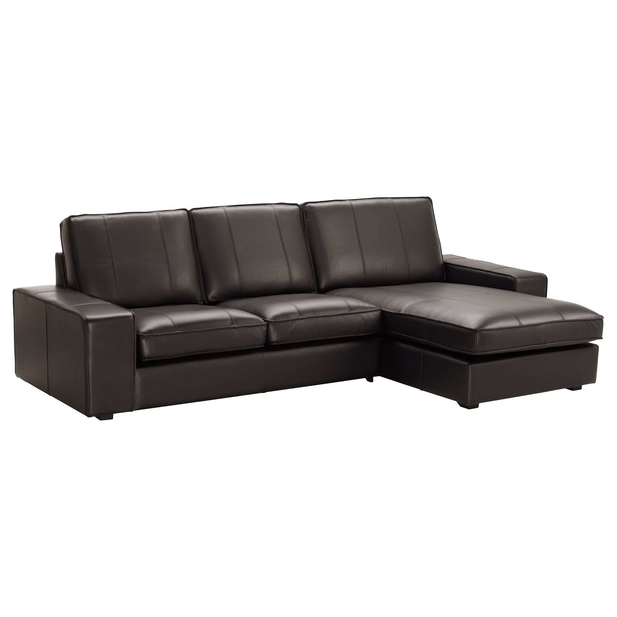 Newest Kivik Sofa – With Chaise/grann/bomstad Black – Ikea Pertaining To Sectional Sofas At Ikea (View 12 of 20)