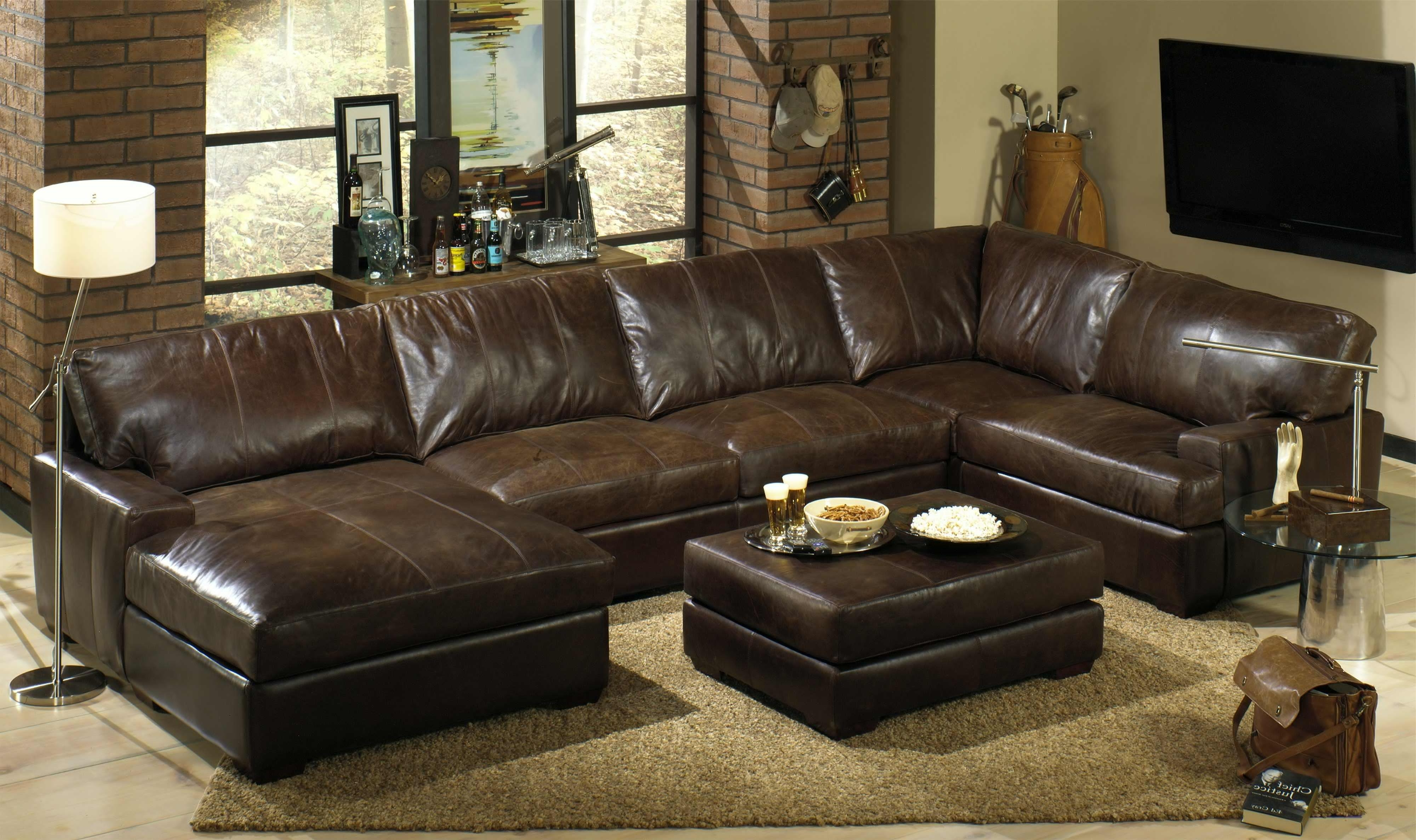 Newest Leather Loveseat Recliner Leather Couches Clearance Leather Corner Throughout Reclining U Shaped Sectionals (View 11 of 20)