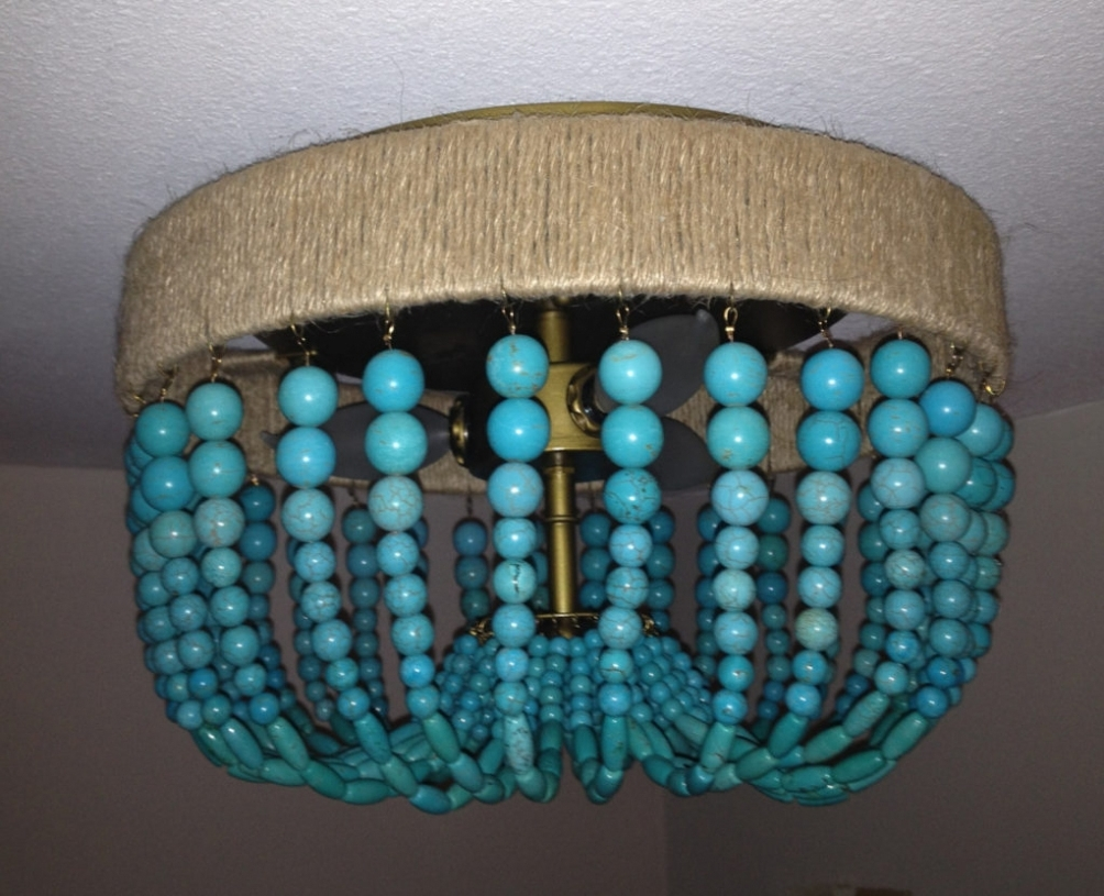 Newest Lighting Chandeliers Turquoise Beaded Chandelier Light Fixture Within Fixtures