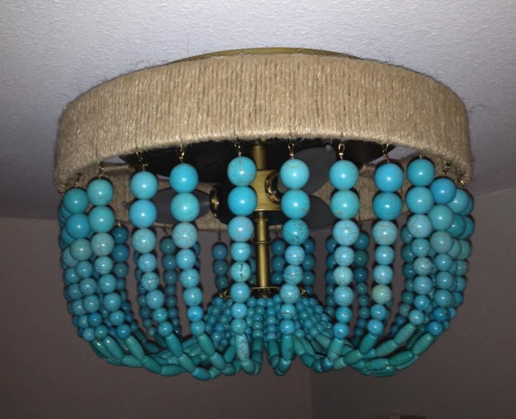 Newest Lighting ~ Chandeliers ~ Turquoise Beaded Chandelier Light Fixture Within Turquoise Beaded Chandelier Light Fixtures (View 15 of 20)