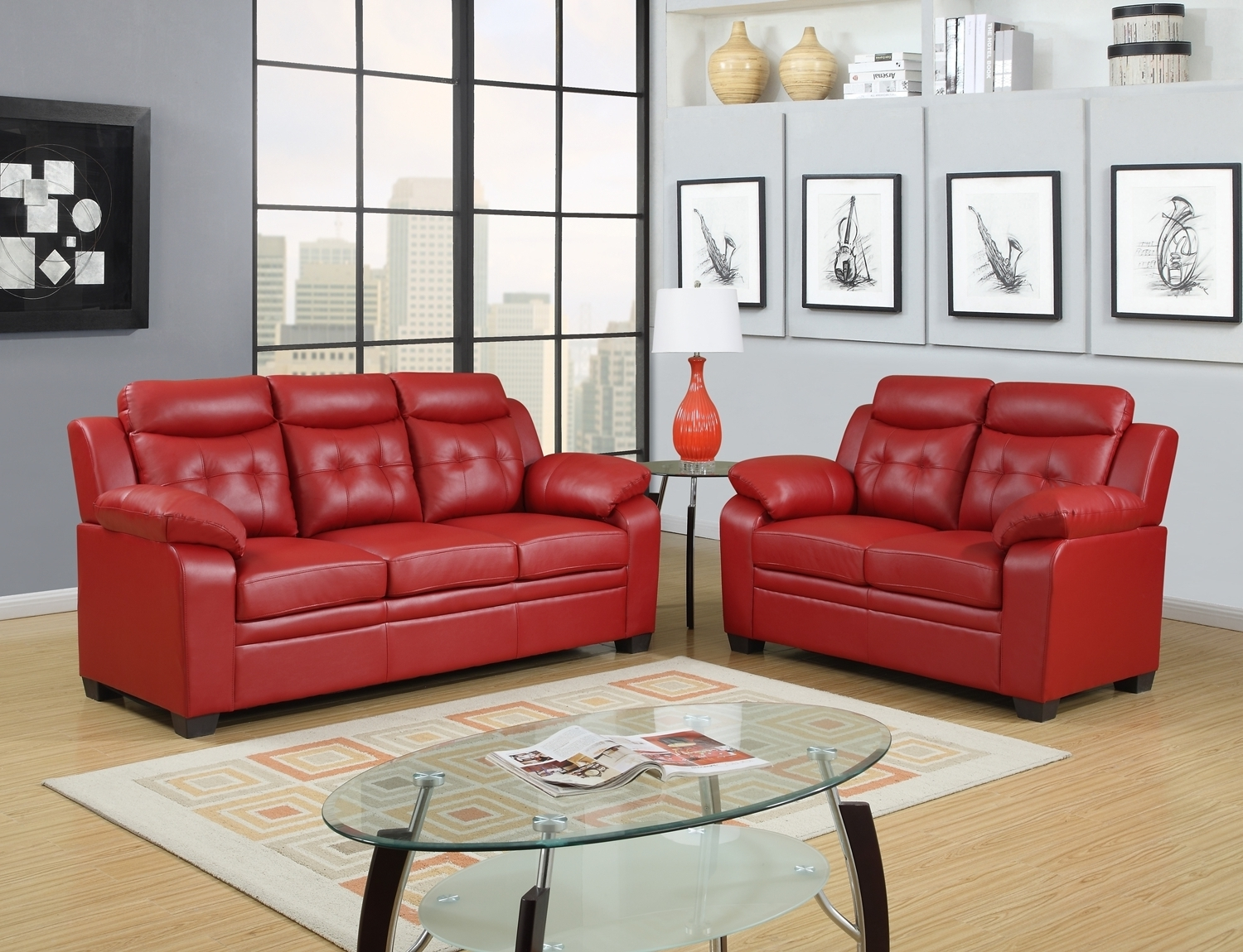 Newest Lovely Cheap Red Leather Sofa 11 In With Cheap Red Leather Sofa In Red Leather Couches (View 6 of 20)