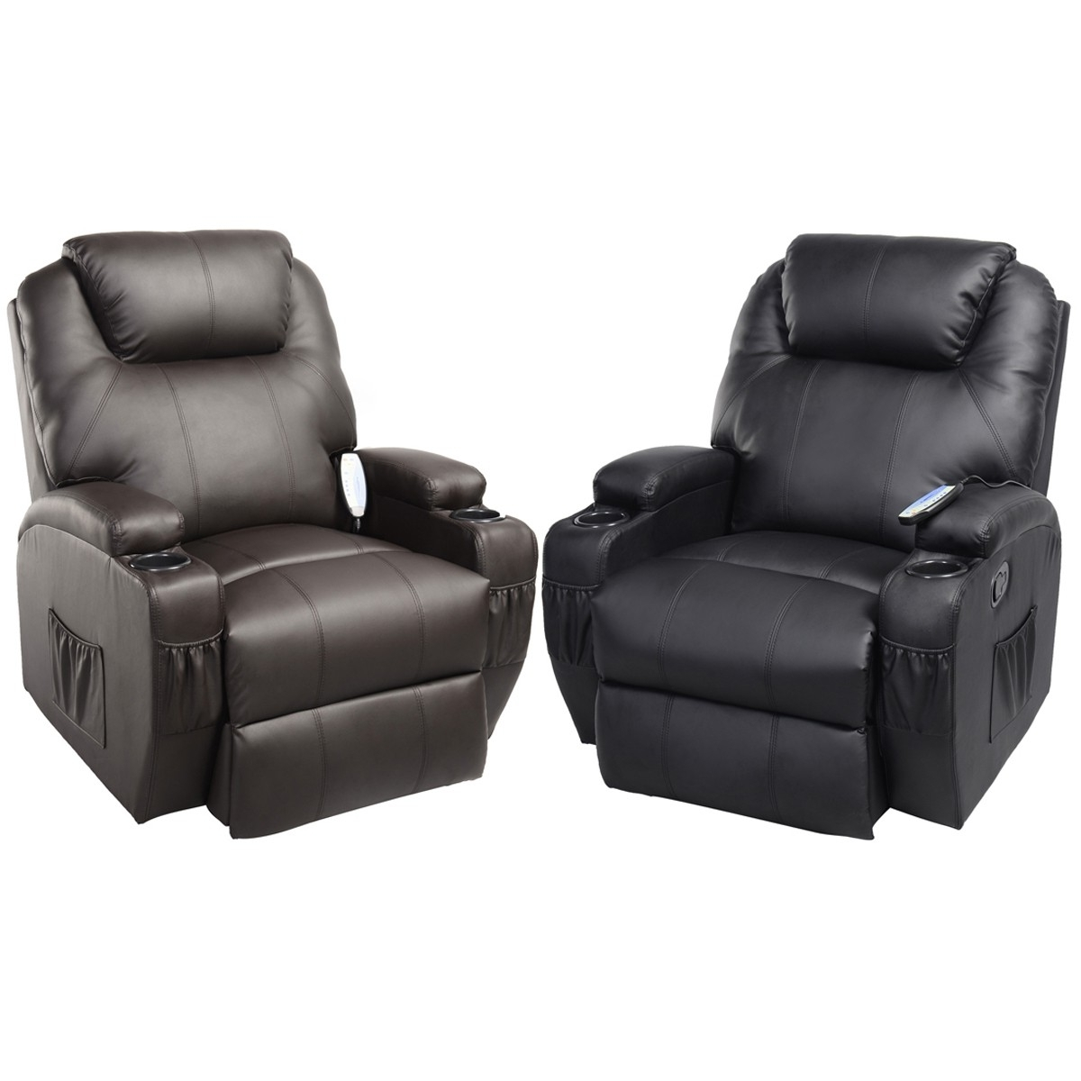 Newest Mage Recliner Sofa Chair Deluxe Ergonomic Lounge Heated W Within Sofas And Chairs