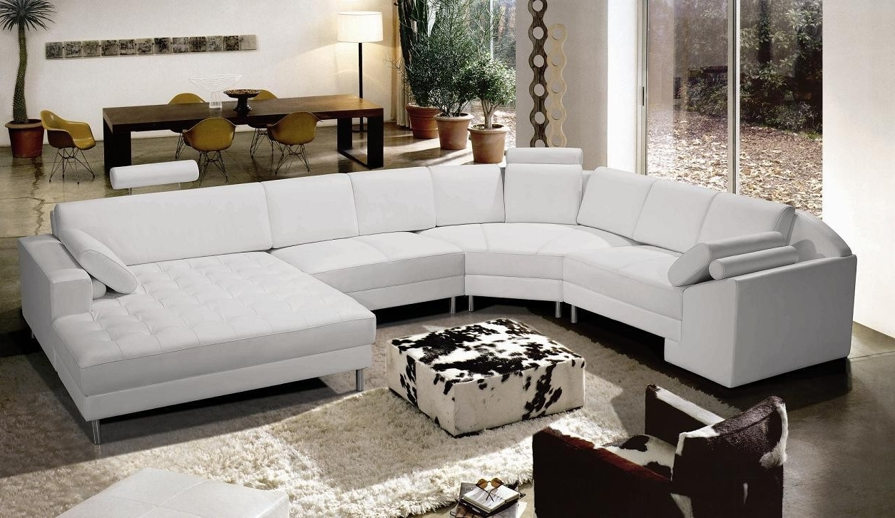 Newest Modern Microfiber Sectional Sofas In Chairs : Leather Sofa Set White Sofa Black Leather Sofa Recliner (View 20 of 20)