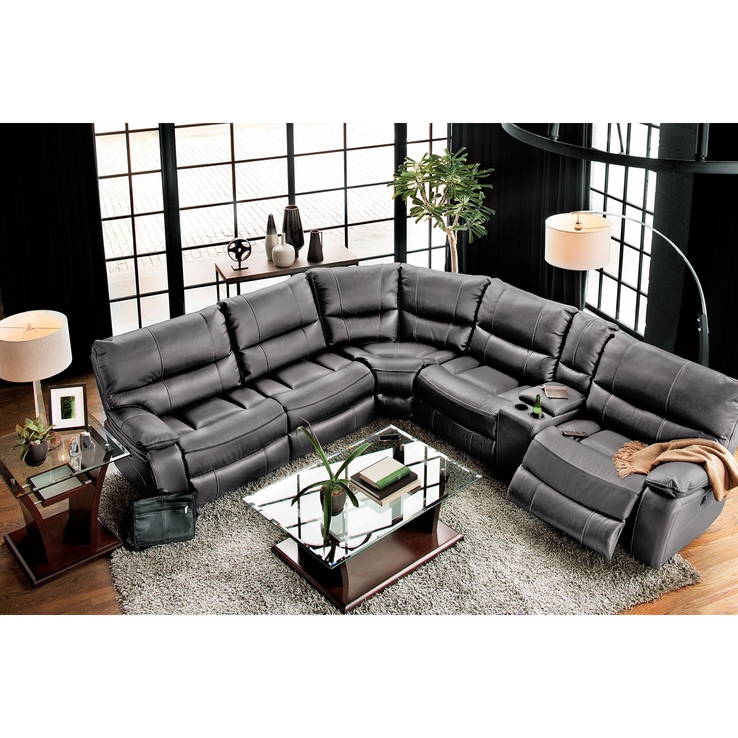 Newest Orlando Sectional Sofas Pertaining To Orlando 6 Piece Power Reclining Sectional With 1 Stationary Chair (View 8 of 20)