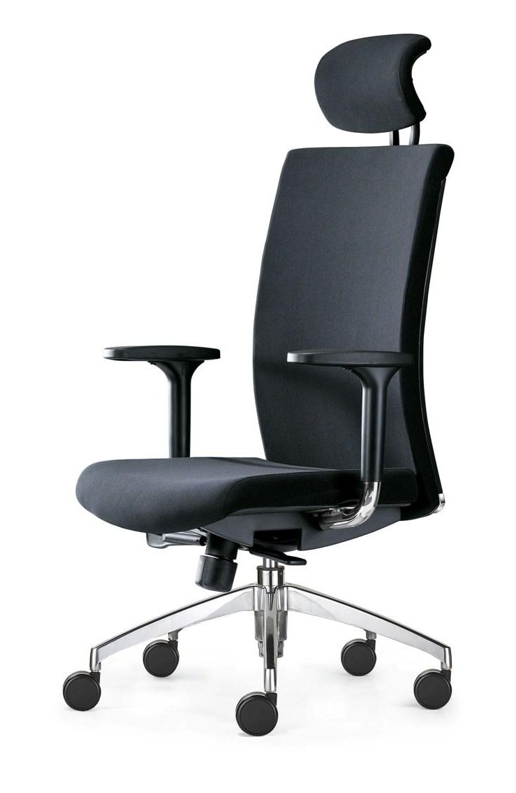 Newest Phoenix High Back Executive Chair With Headrest Office Furniture Regarding Executive Office Chairs With Headrest (View 14 of 20)