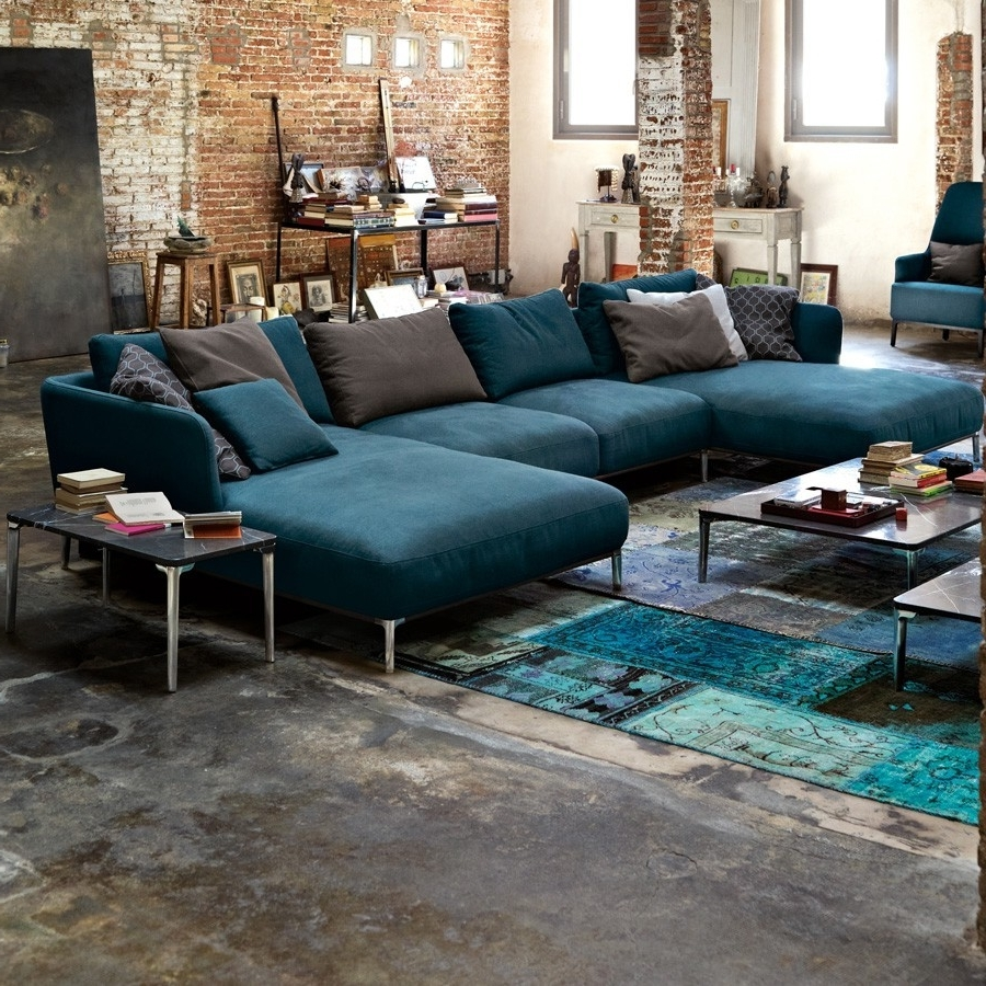 Newest Rolf Benz Sofa For Family Room, Living Room And Home Theater Within Blue Sofa Chairs (View 16 of 20)