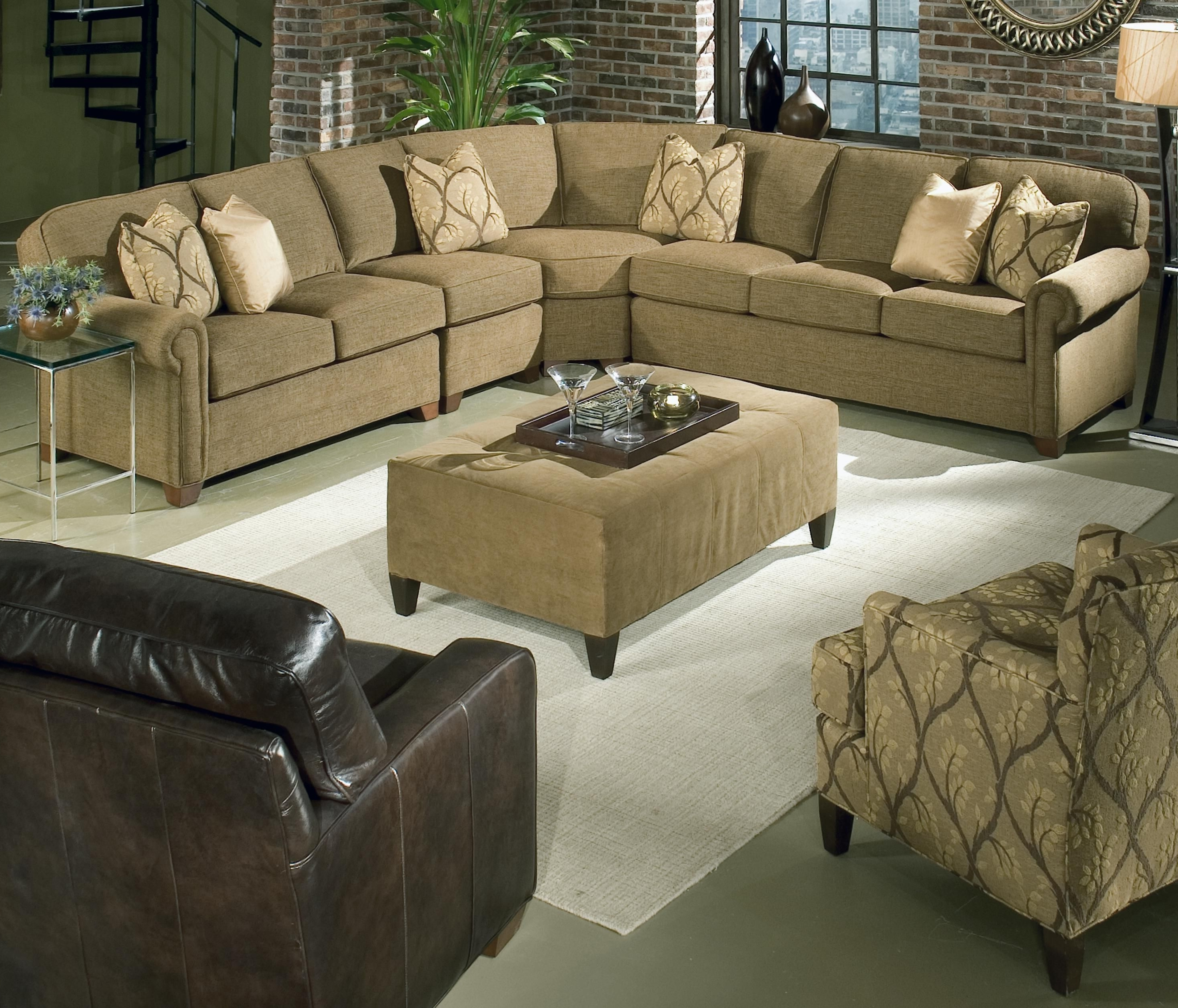 Newest Salt Lake City Sectional Sofas For Brighton 4 Piece Sectionalking Hickory (View 10 of 20)