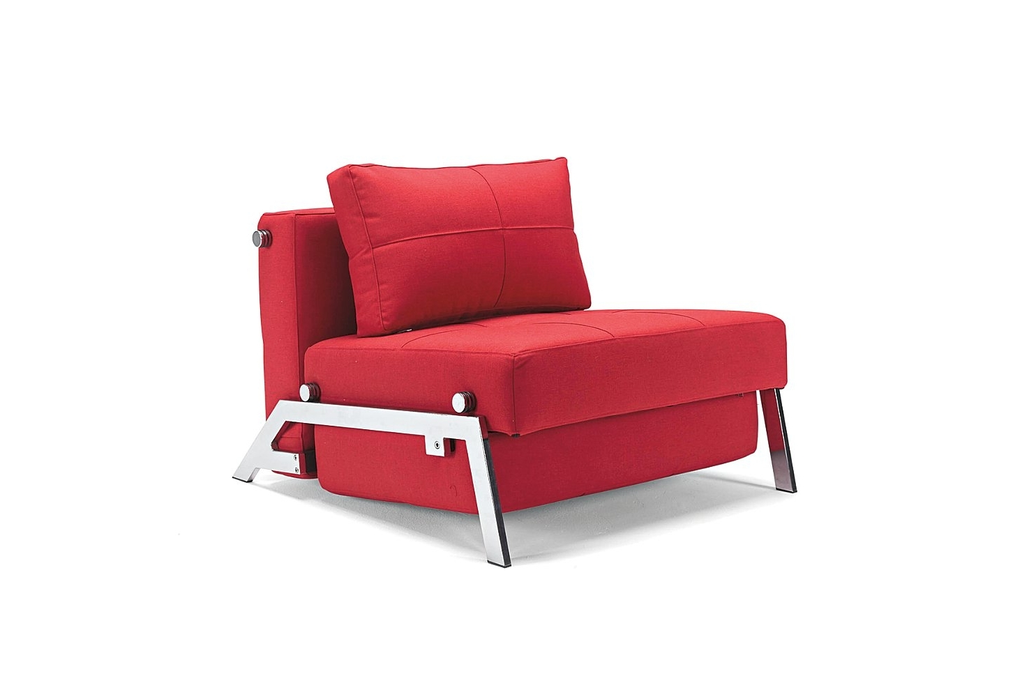 Newest Single Sofa Bed Moblerfurniture Red Color – Lentine Marine (View 6 of 20)