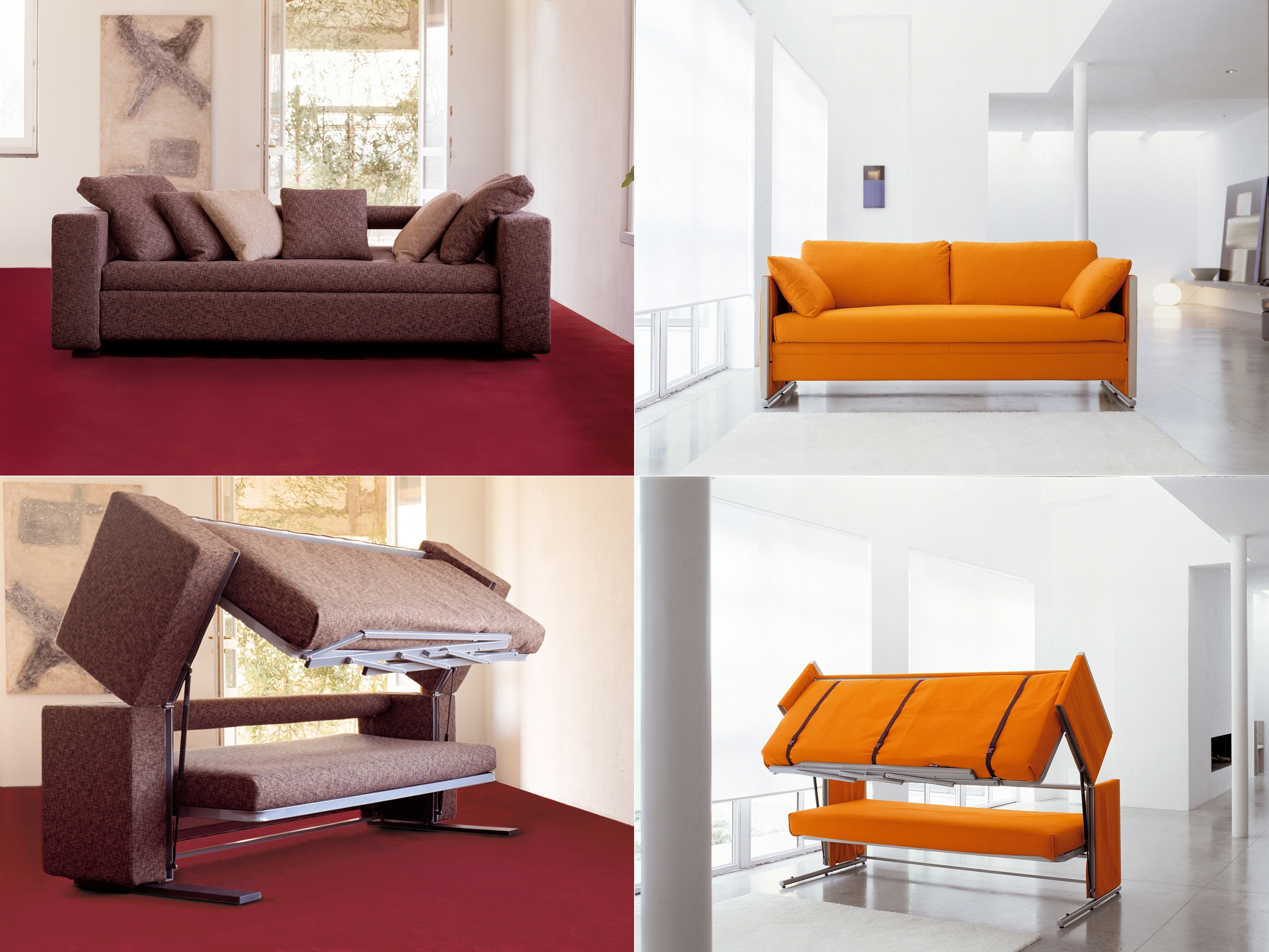 Newest Sofa Bunk Beds Within Innovative Multifunctional Sofadesigner Giulio Manzoni (View 7 of 20)
